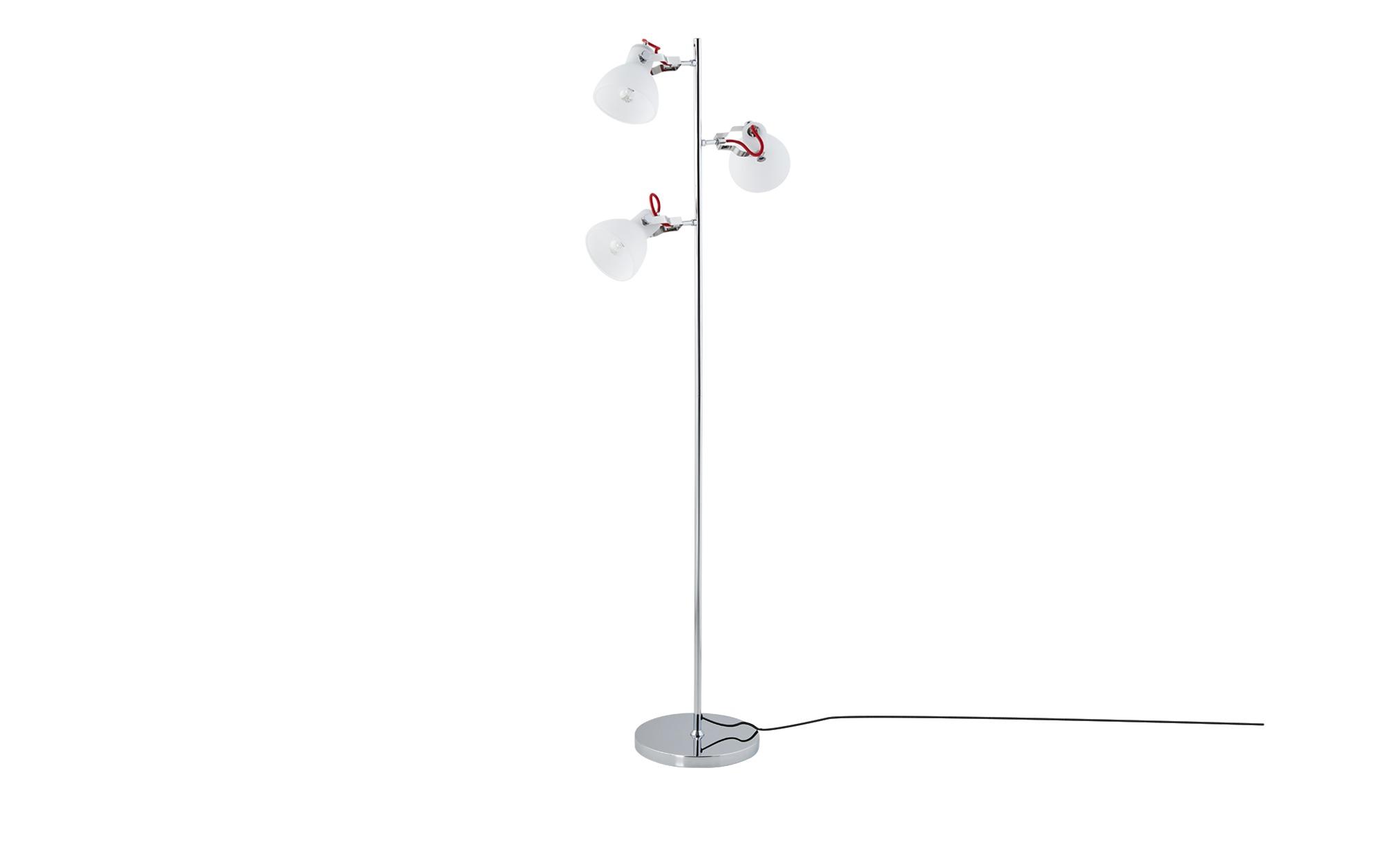 KHG Stehleuchte, 3-flammig, chrom ¦ Maße (cm): B: 25 H: 145 Lampen & Leuchten > Innenleuchten > Stehlampen - Höffner