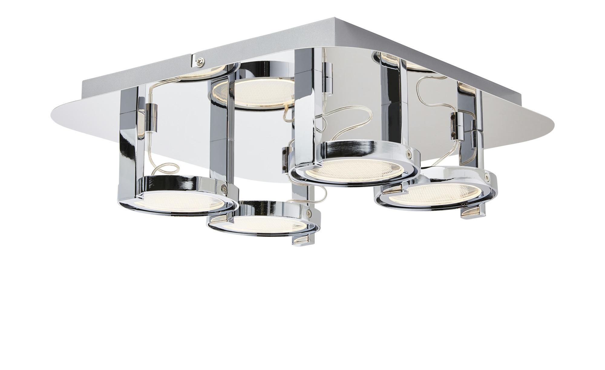 KHG LED-Deckenspot, 4-flammig, Chrom ¦ silber ¦ Maße (cm): B: 33 H: 10 Lampen & Leuchten > LED-Leuchten > LED-Strahler & Spots - Höffner