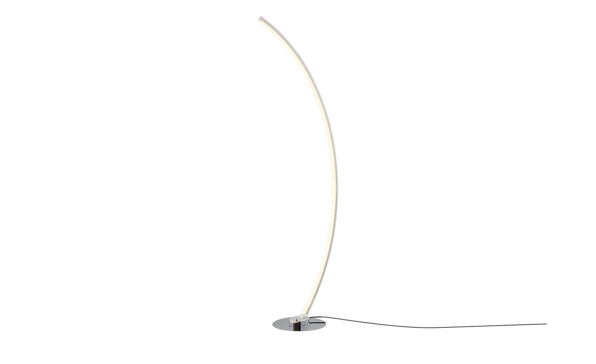 KHG LED-Stehleuchte, mit Farbwechsler ¦ silber ¦ Maße (cm): B: 25 H: 142 Lampen & Leuchten > Innenleuchten > Stehlampen - Höffner