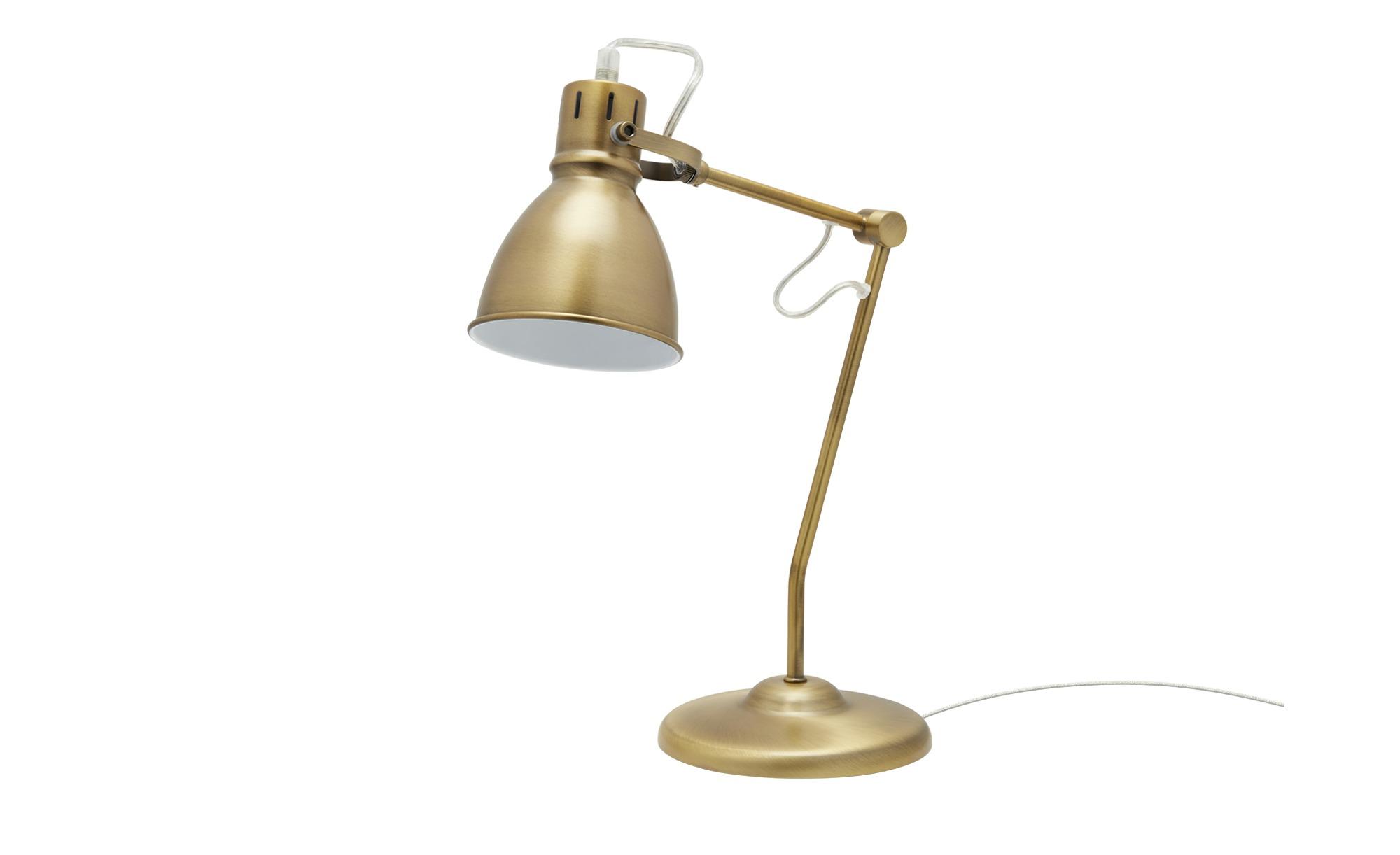 Trio Tischleuchte, 1-flammig, messing antik ¦ gold ¦ Maße (cm): H: 45 T: 23 Lampen & Leuchten > Innenleuchten > Tischlampen - Höffner