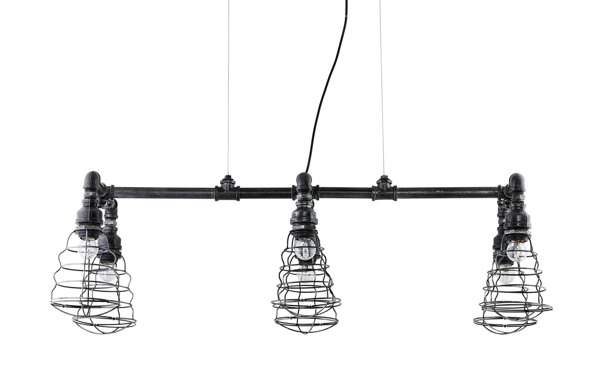 Trio Pendelleuchte, 6-flammig im Industrie-Look ¦ schwarz ¦ Maße (cm): B: 103 H: 150 Lampen & Leuchten > Innenleuchten > Pendelleuchten - Höffner