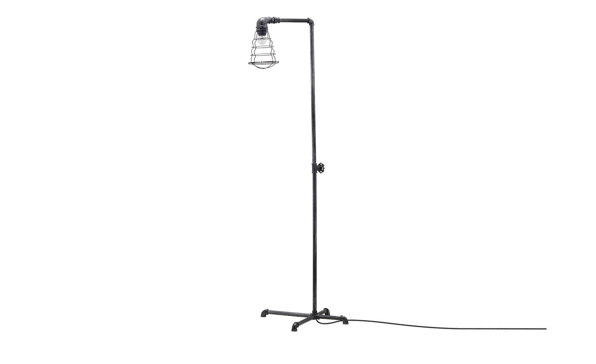 Trio Stehleuchte, 1-flammig, im Industrie-Look ¦ schwarz ¦ Maße (cm): H: 145 Lampen & Leuchten > Innenleuchten > Stehlampen - Höffner