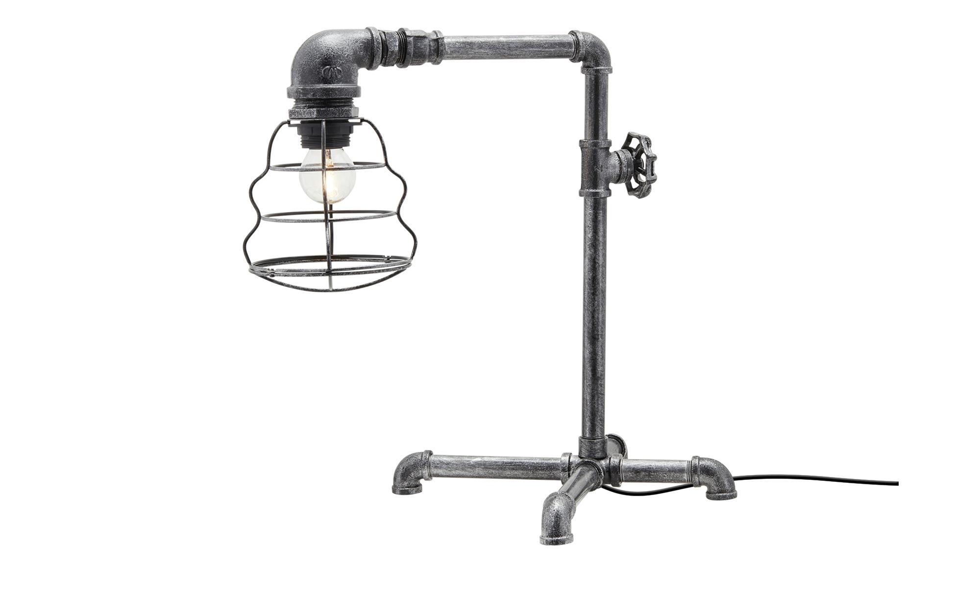 Trio Tischleuchte, 1-flammig, im Industrie-Look ¦ silber ¦ Maße (cm): H: 40 Lampen & Leuchten > Innenleuchten > Tischlampen - Höffner