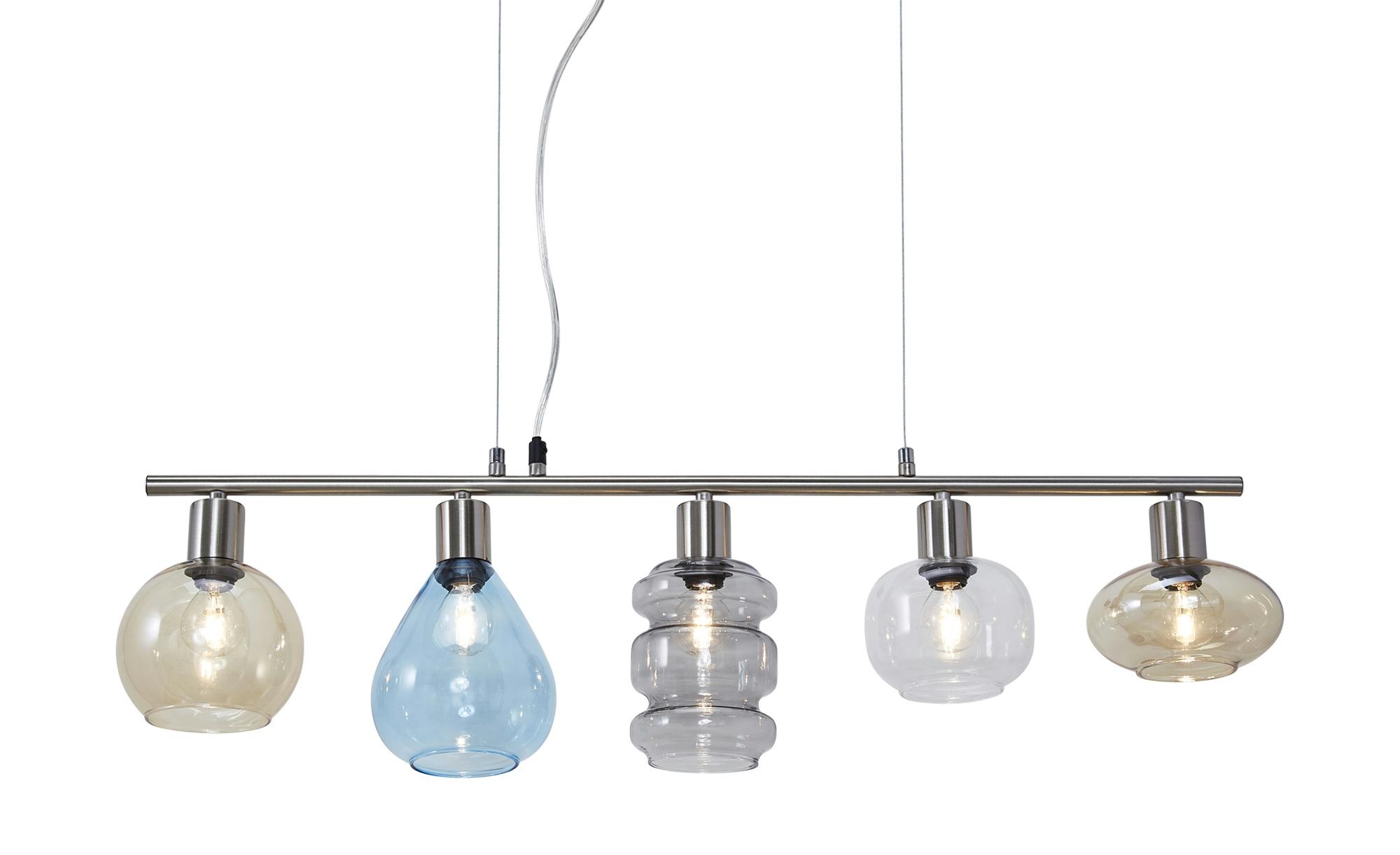 Pendelleuchte, 5-flammig mit verschiedenen Schirmen ¦ mehrfarbig ¦ Maße (cm): H: 150 Lampen & Leuchten > Innenleuchten > Pendelleuchten - Höffner