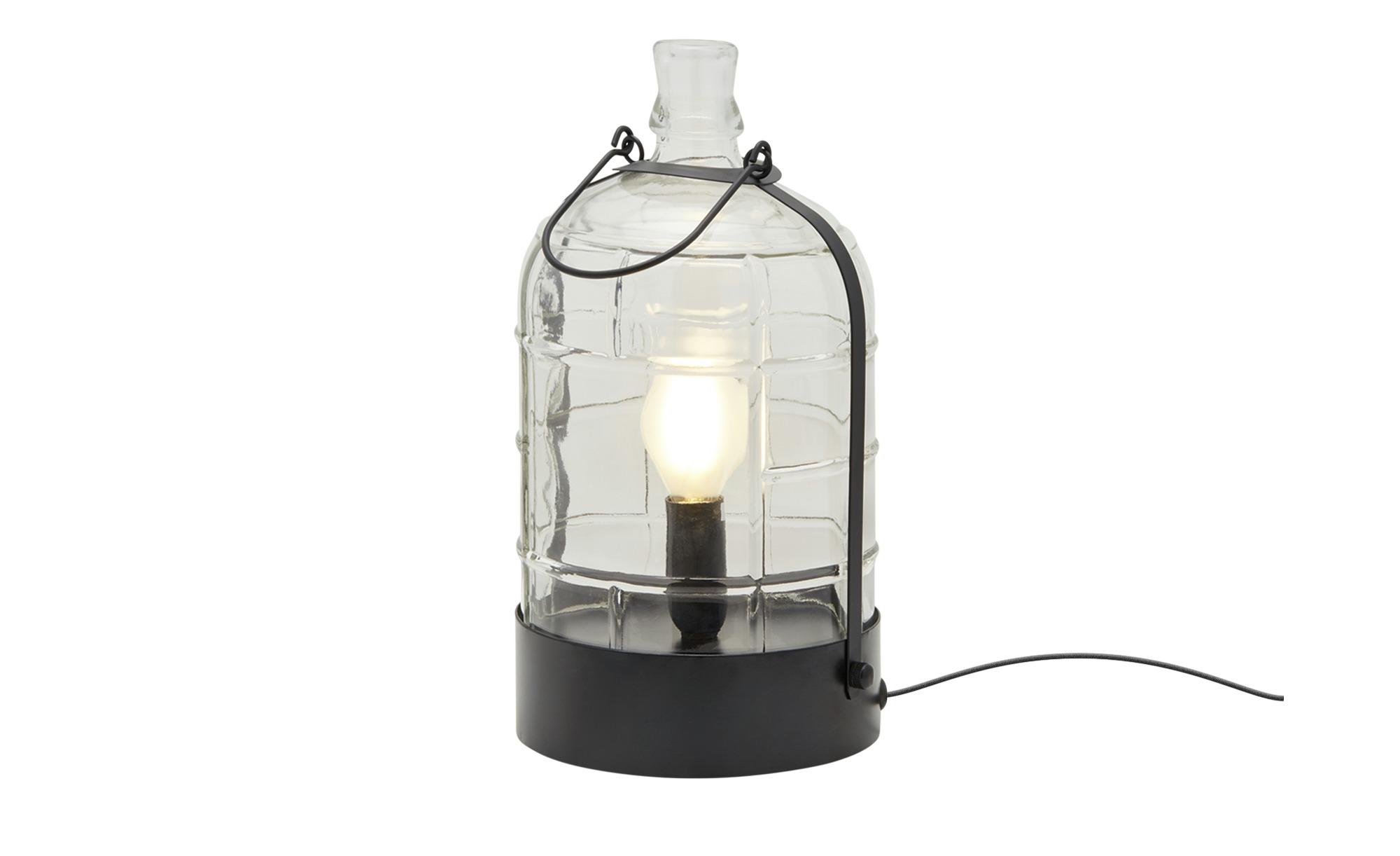 Trio Tischleuchte im Flaschendesign ¦ schwarz ¦ Maße (cm): H: 28 Ø: 14.5 Lampen & Leuchten > Innenleuchten > Tischlampen - Höffner