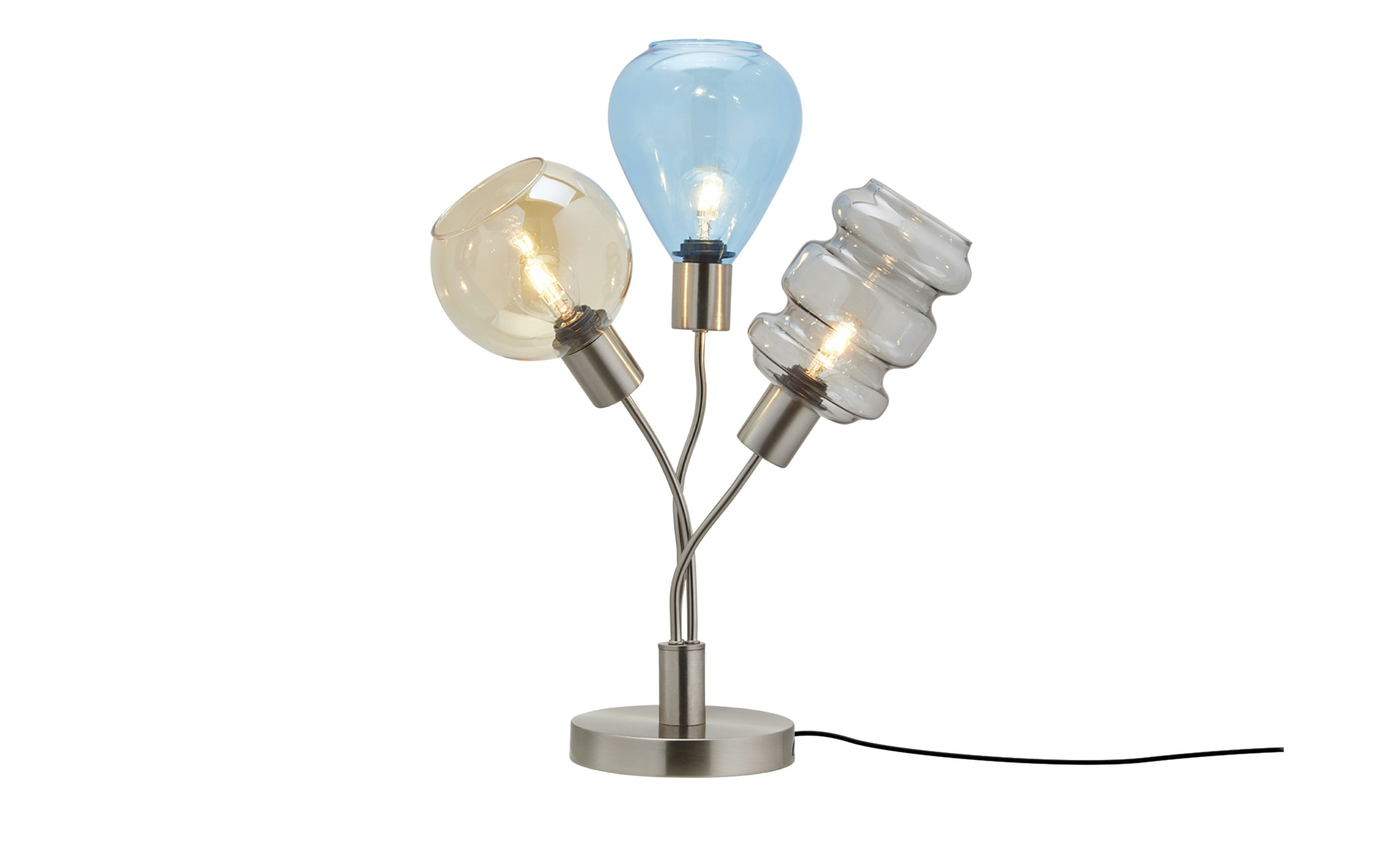 Tischleuchte, 3-flammig, Gläser in bunt ¦ mehrfarbig ¦ Maße (cm): H: 35 Lampen & Leuchten > Innenleuchten > Tischlampen - Höffner