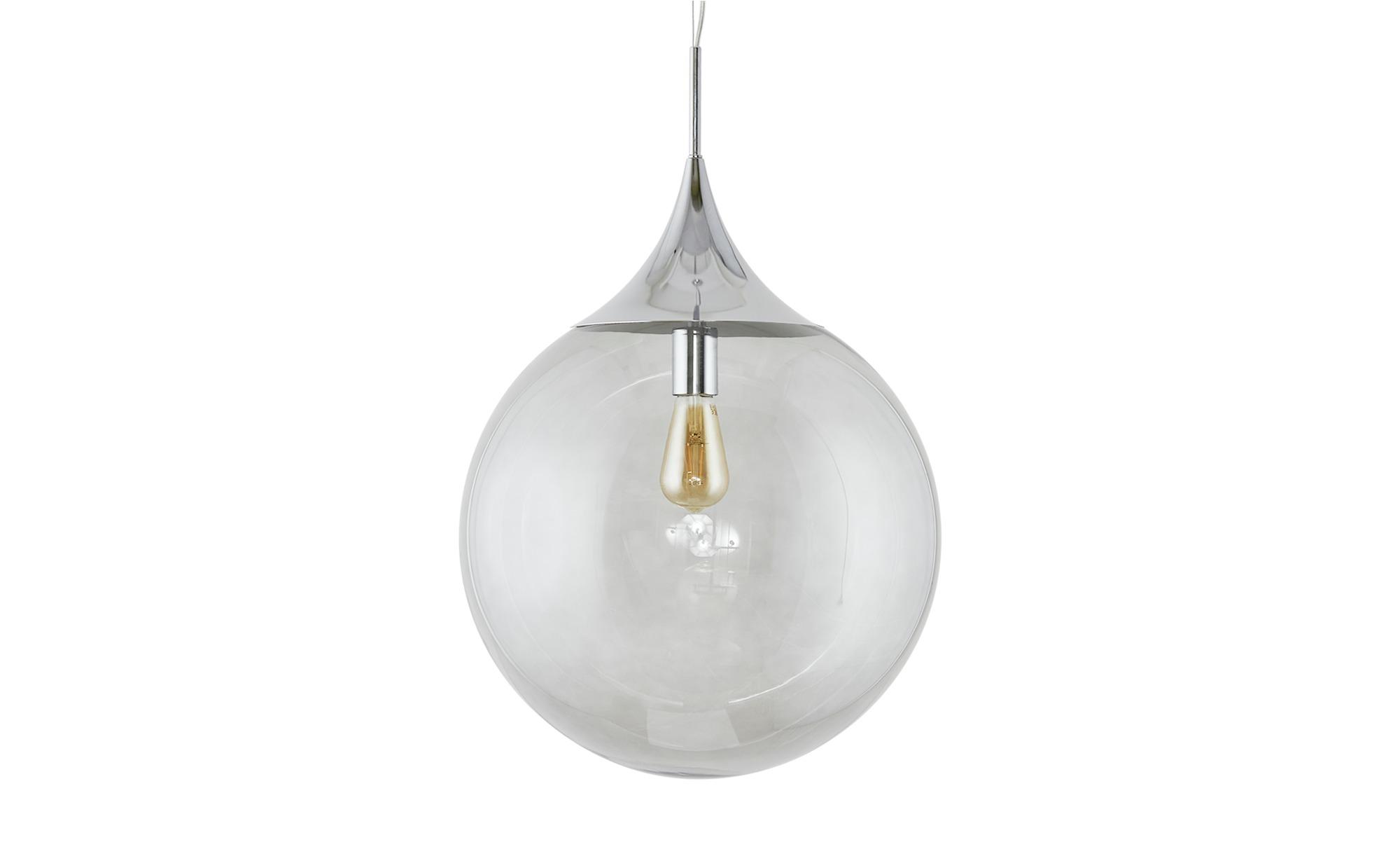 Trio Glaspendelleuchte, 1-flammig ´rauchfarbig´ ¦ grau ¦ Maße (cm): H: 150 Ø: [45.0] Lampen & Leuchten > Innenleuchten > Pendelleuchten - Höffner