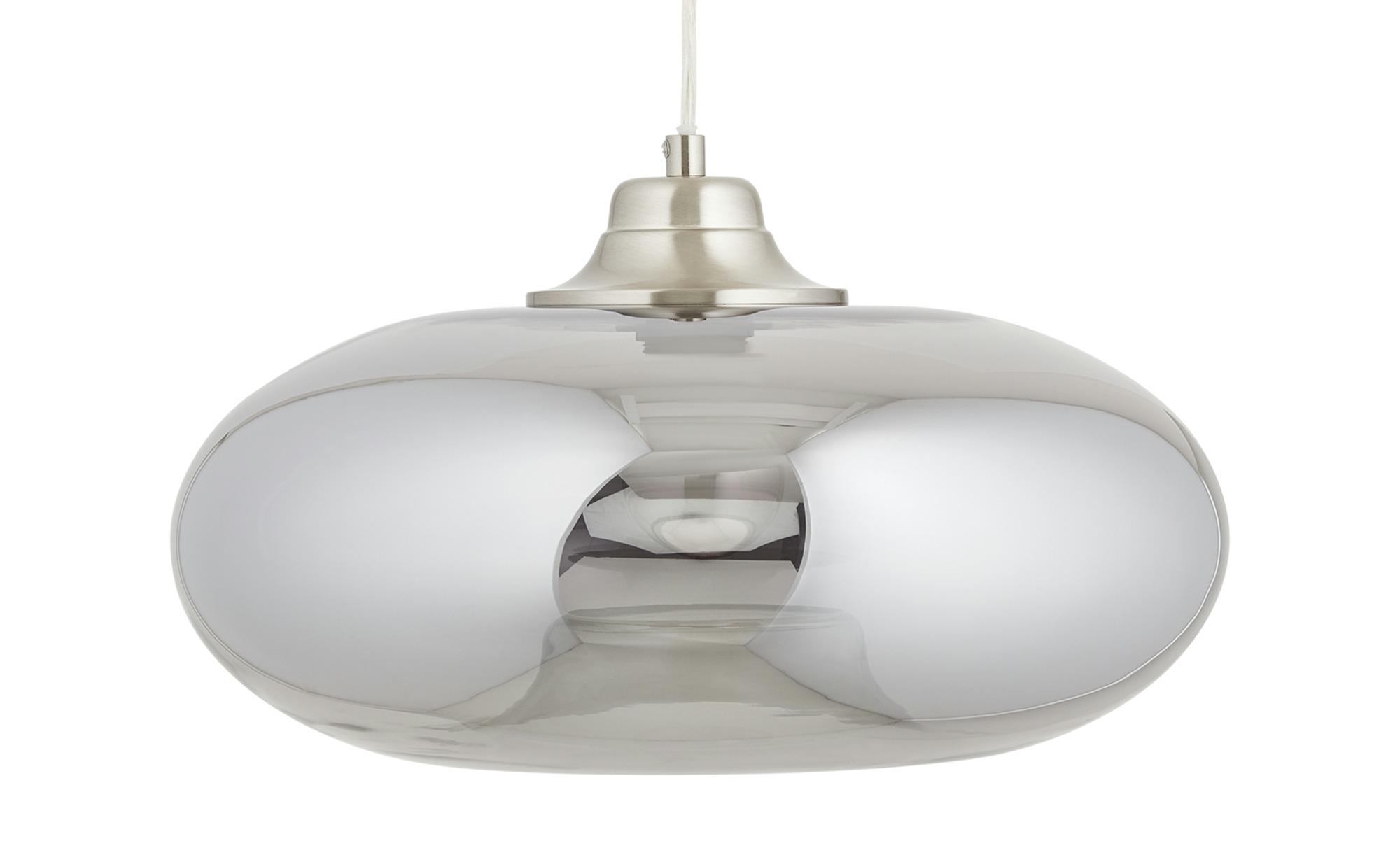 Glaspendelleuchte, 1-flammig ¦ grau ¦ Maße (cm): H: 150 Ø: 40 Lampen & Leuchten > Innenleuchten > Pendelleuchten - Höffner