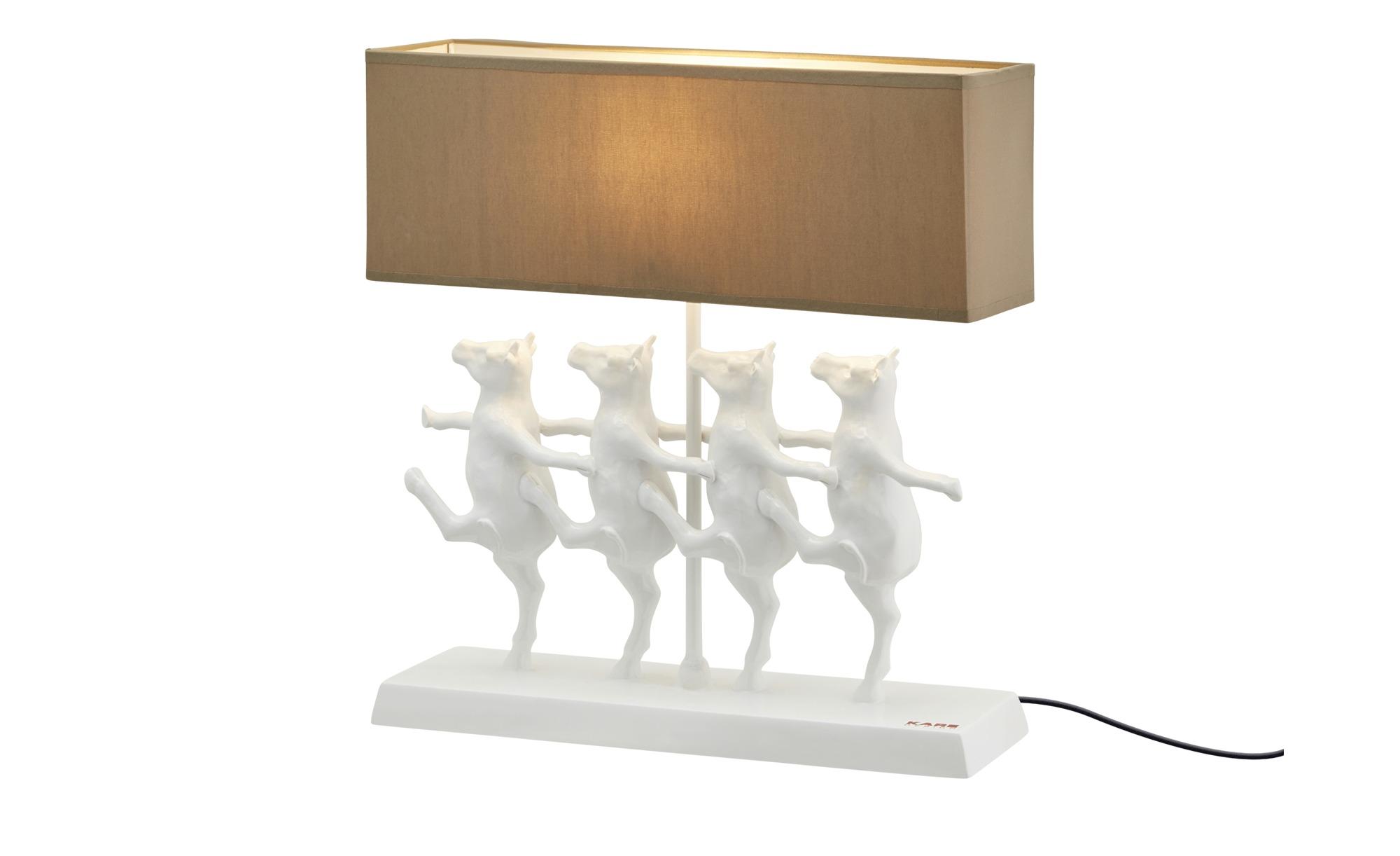 Kare Tischleuchte, 1-flammig `tanzende Kühe´ ¦ weiß ¦ Maße (cm): B: 43 H: 41 T: 12 Lampen & Leuchten > Innenleuchten > Tischlampen - Höffner