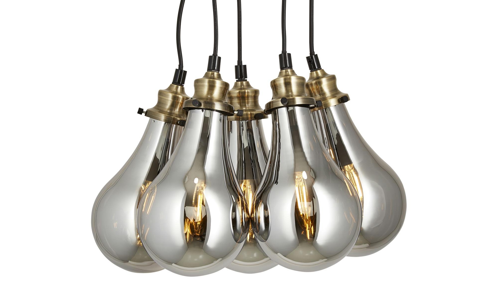 HOME STORY Pendelleuchte, 5-flammig ¦ gold ¦ Maße (cm): B: 35 H: 130 Lampen & Leuchten > Innenleuchten > Pendelleuchten - Höffner