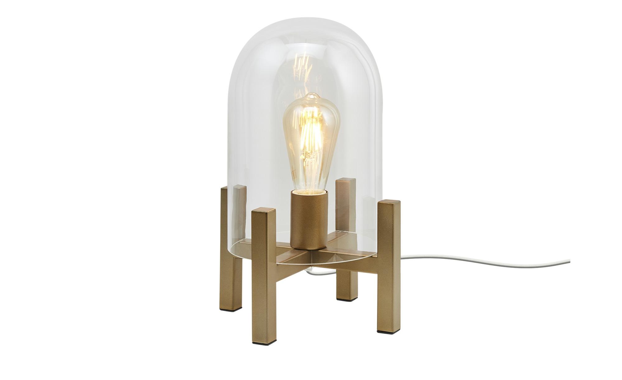 HOME STORY Tischleuchte, 1-flammig, messing-antik ¦ gold ¦ Maße (cm): H: 34 Ø: [17.5] Lampen & Leuchten > Innenleuchten > Tischlampen - Höffner