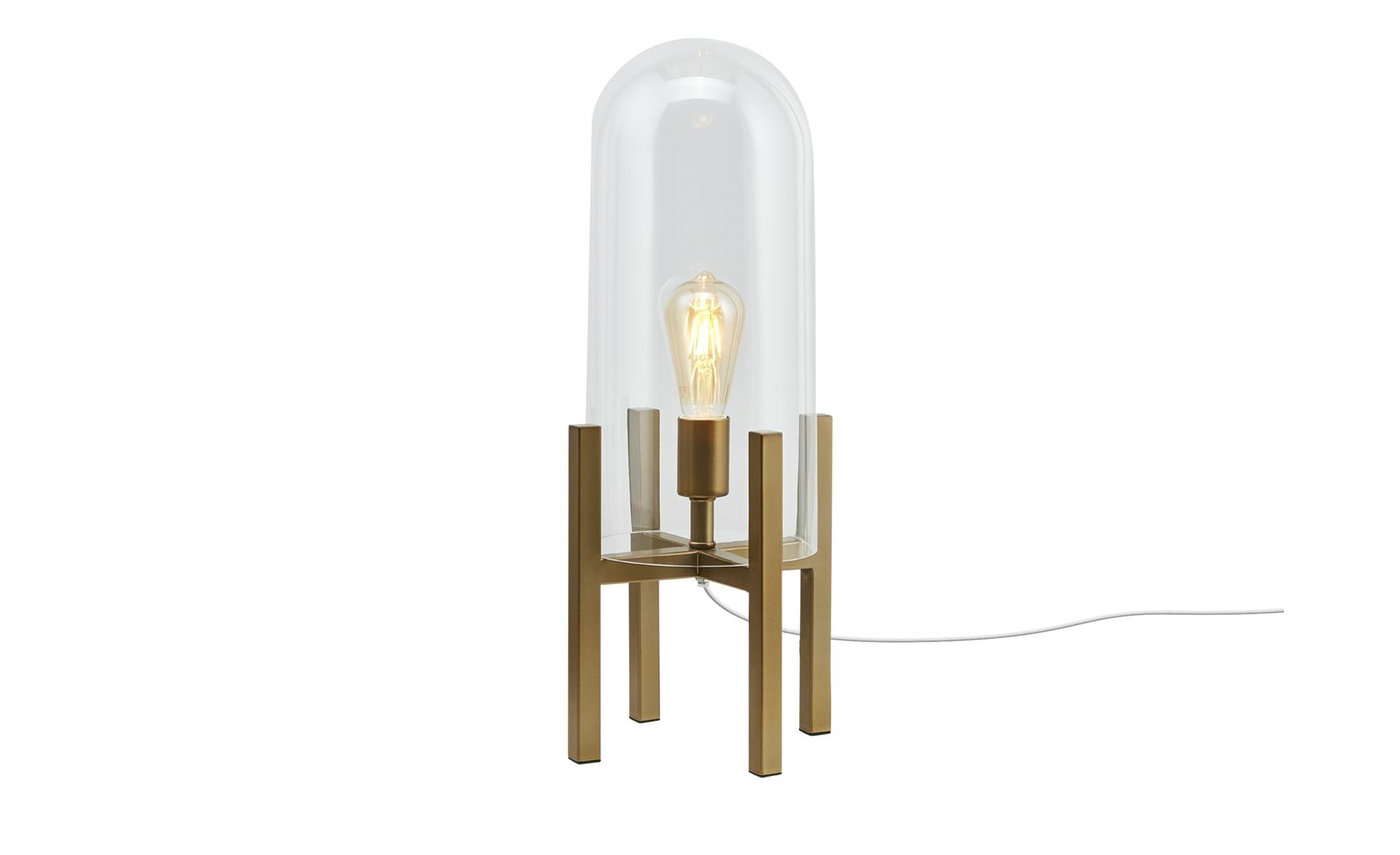HOME STORY Stehleuchte, 1-flammig, messing-antik ¦ gold ¦ Maße (cm): H: 55 Ø: 22.5 Lampen & Leuchten > Innenleuchten > Tischlampen - Höffner