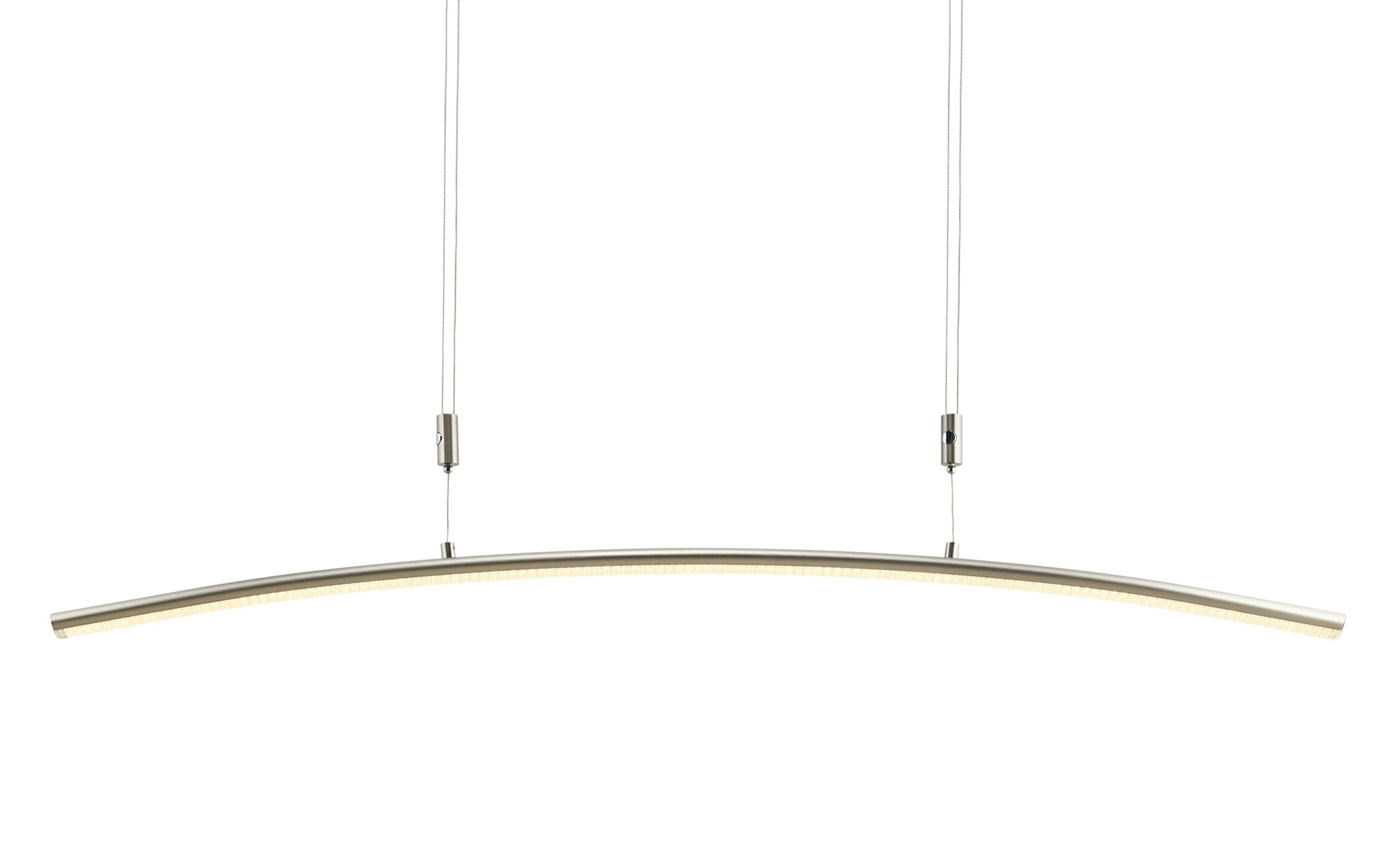 KHG LED-Pendelleuchte, Nickel matt ¦ silber ¦ Maße (cm): B: 5,8 H: 120 Lampen & Leuchten > Innenleuchten > Pendelleuchten - Höffner