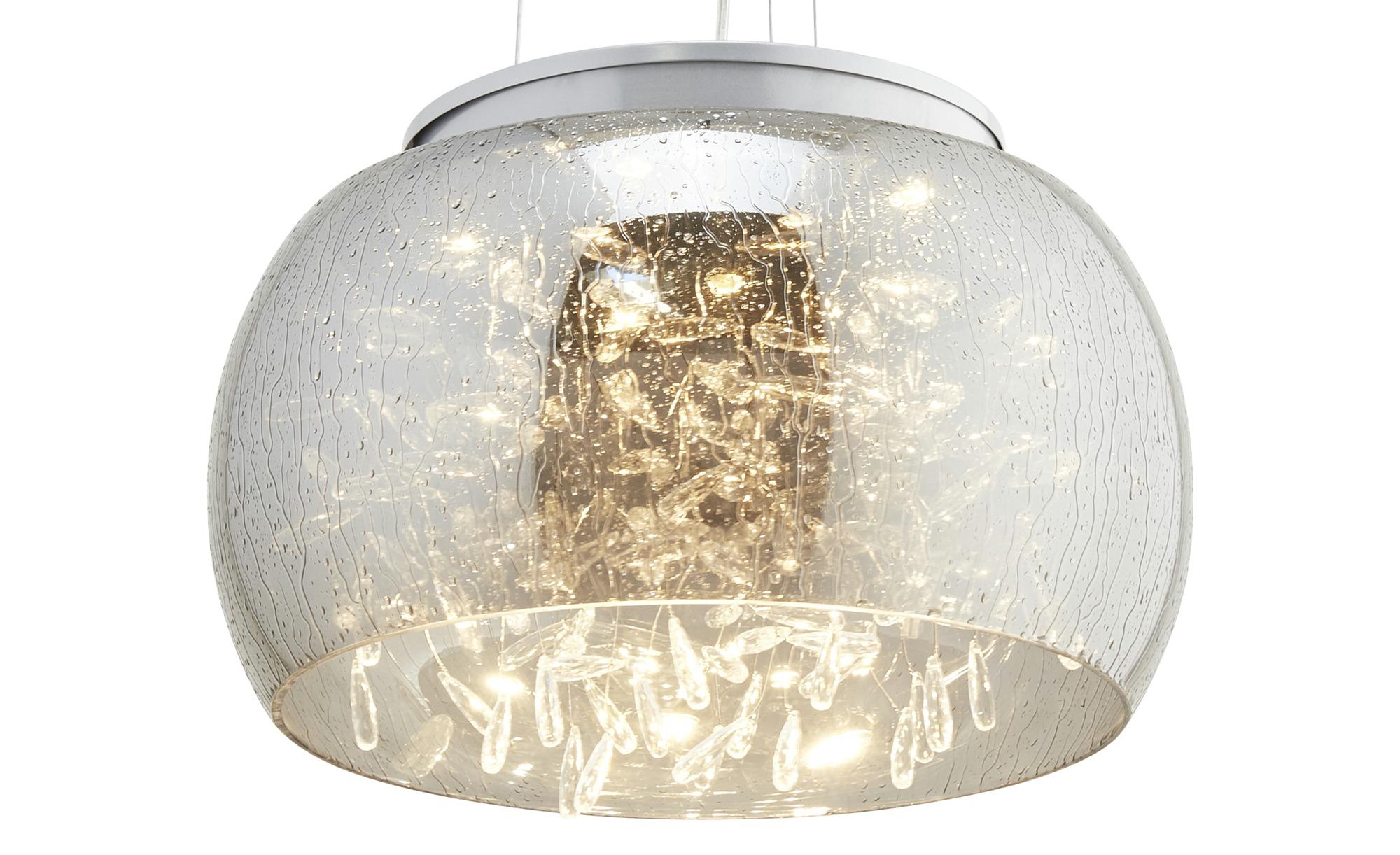 HOME STORY LED-Pendelleuchte, Rauchglas mit Acryltropfen ¦ silber ¦ Maße (cm): H: 120 Ø: [39.5] Lampen & Leuchten > LED-Leuchten > LED-Pendelleuchten - Höffner