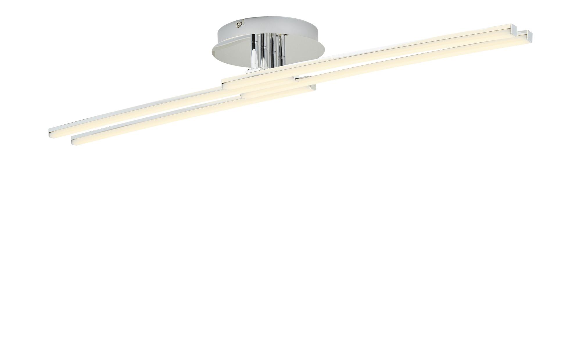 KHG LED-Deckenleuchte, 4-flammig, Chrom ¦ silber ¦ Maße (cm): B: 18 H: 9 Lampen & Leuchten > Innenleuchten > Deckenleuchten - Höffner