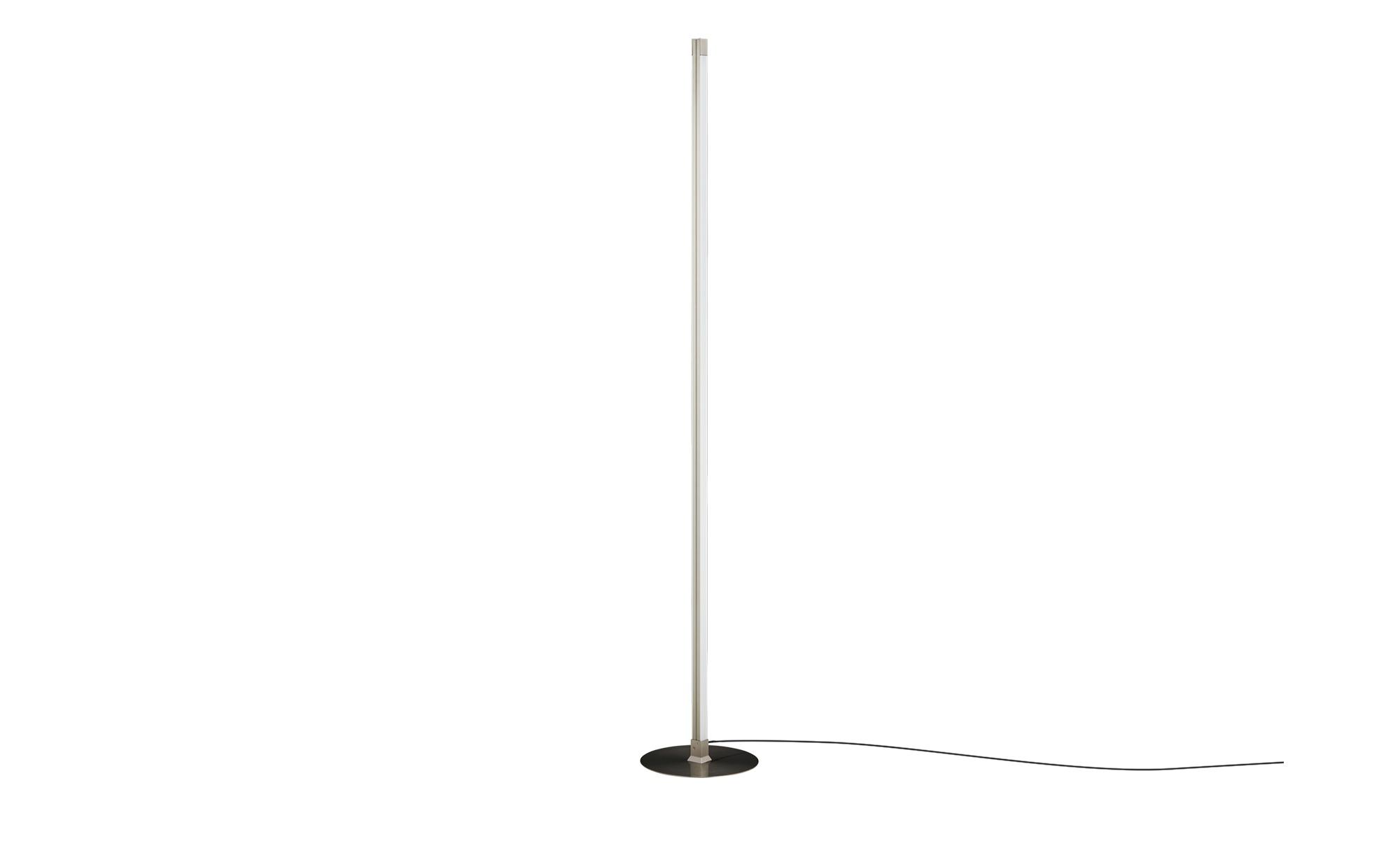 KHG LED-Stehleuchte, 2-flammig, Nickel-matt ¦ silber ¦ Maße (cm): B: 24,5 H: 149 Lampen & Leuchten > Innenleuchten > Stehlampen - Höffner