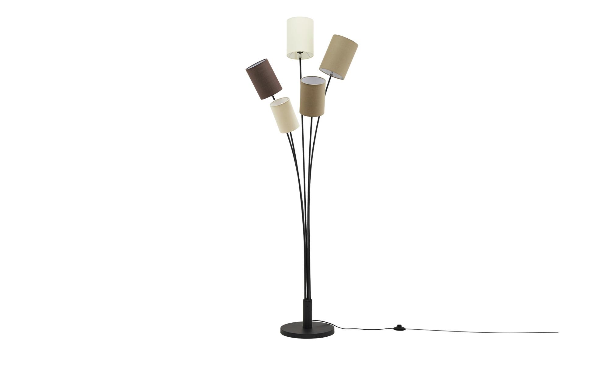 HOME STORY Stehleuchte, 5-flammig ¦ schwarz ¦ Maße (cm): H: 175 Ø: [63.0] Lampen & Leuchten > Innenleuchten > Stehlampen - Höffner