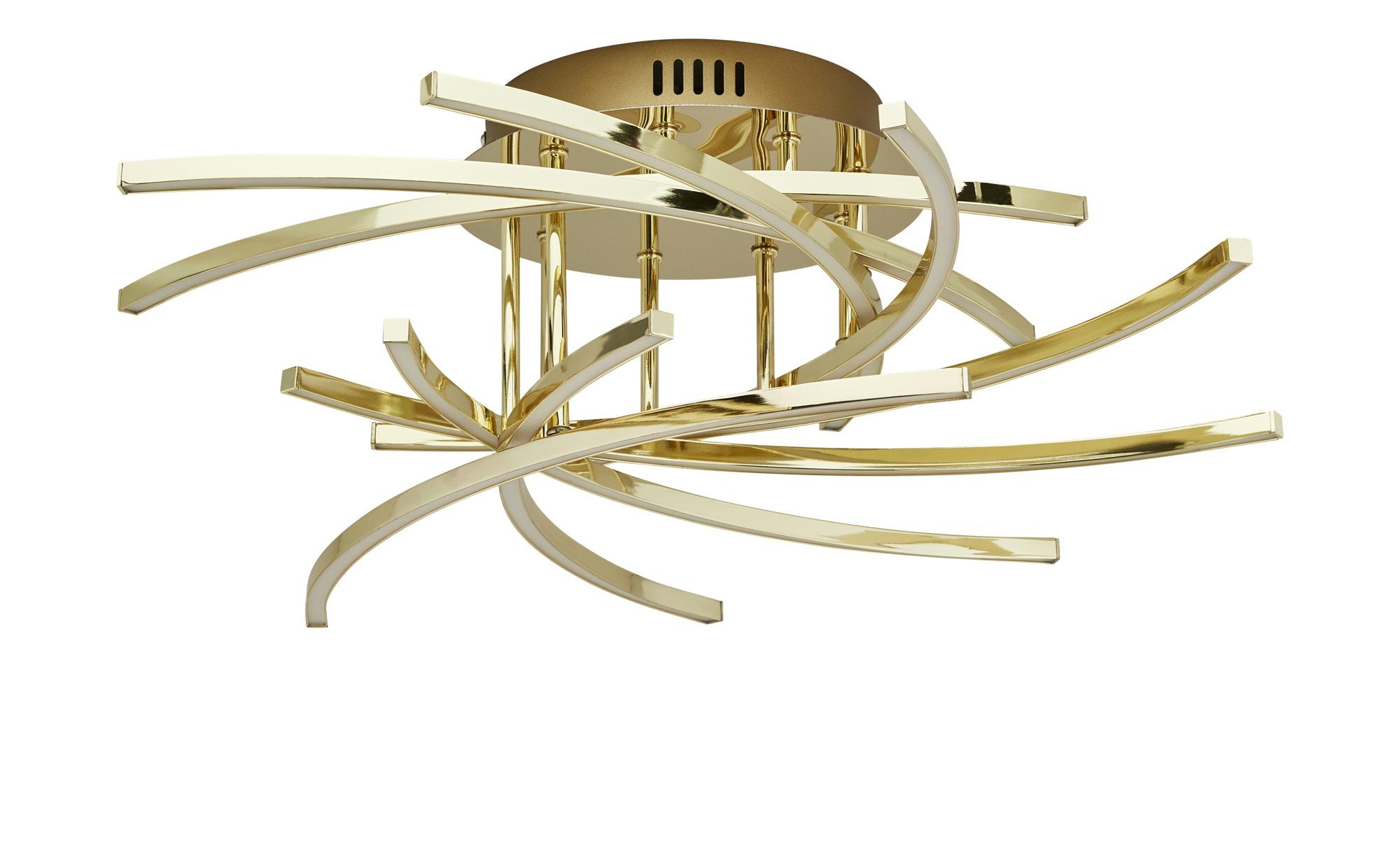 Meisterleuchten LED-Deckenleuchte, 9-flammig ¦ gold ¦ Maße (cm): H: 19 Ø: 52.5 Lampen & Leuchten > Innenleuchten > Deckenleuchten - Höffner