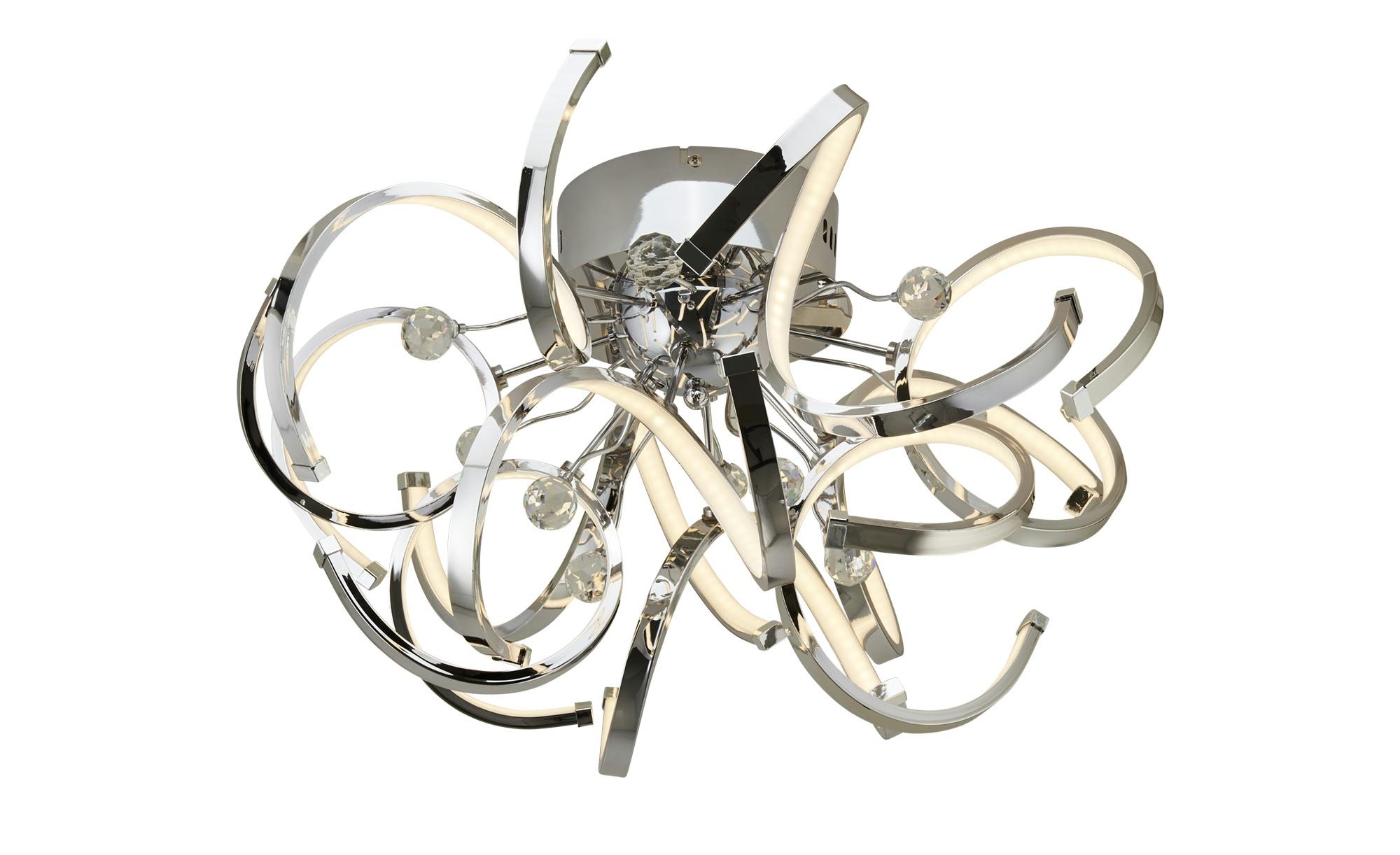 KHG LED-Deckenleuchte, Chrom mit Kristall ¦ silber ¦ Maße (cm): H: 34 Ø: 54 Lampen & Leuchten > Innenleuchten > Deckenleuchten - Höffner