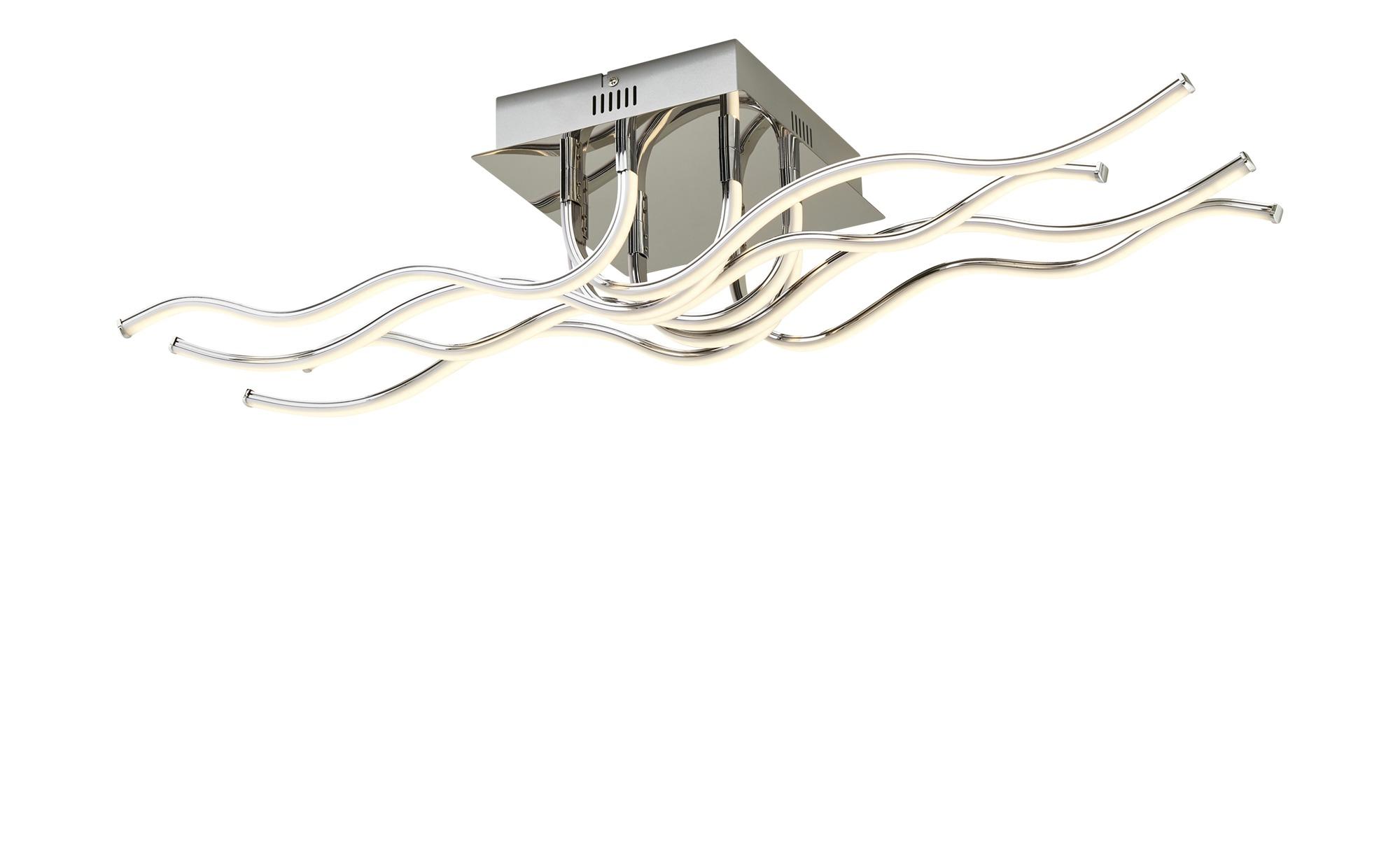 ML LED-Deckenleuchte, Chrom, Wellenform ¦ silber ¦ Maße (cm): B: 25 H: 16,5 Lampen & Leuchten > Innenleuchten > Deckenleuchten - Höffner