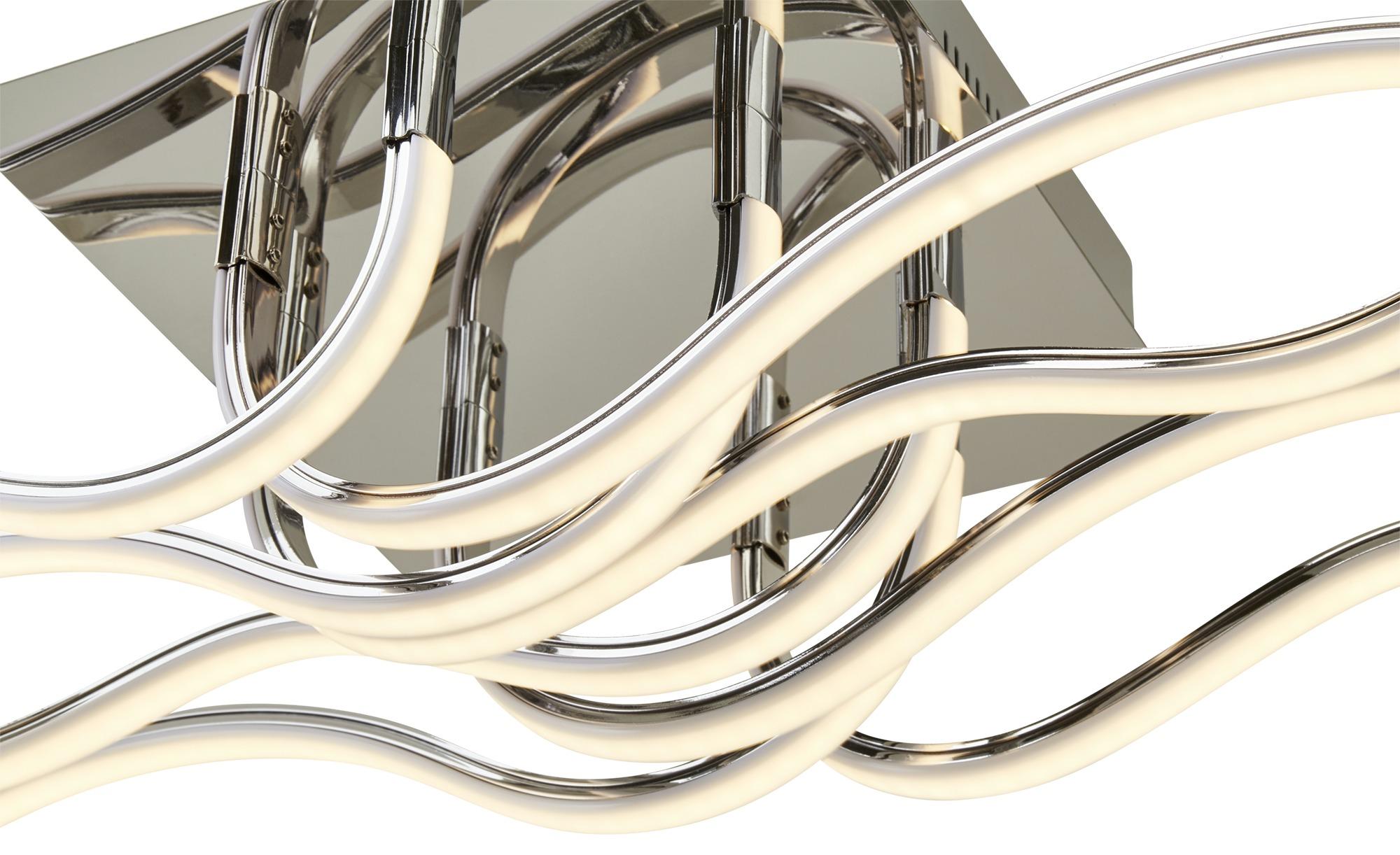Meisterleuchten LED-Deckenleuchte, Chrom, Wellenform ¦ silber ¦ Maße (cm): B: 25 H: 16,5 Lampen & Leuchten > Innenleuchten > Deckenleuchten - Höffner