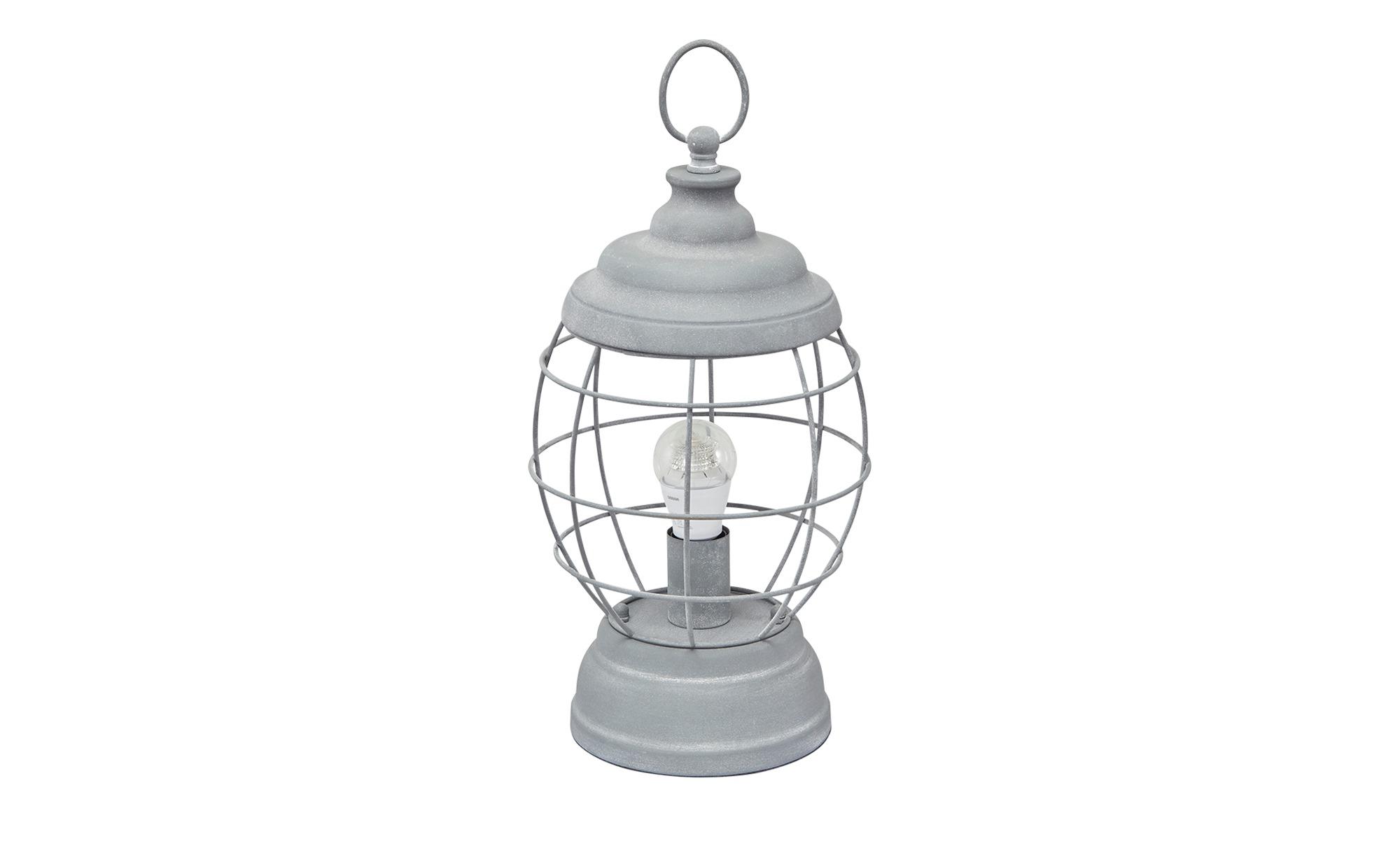 Tischleuchte Laterne, 1-flammig ¦ grau ¦ Maße (cm): B: 18 H: 44 Lampen & Leuchten > Innenleuchten > Tischlampen - Höffner