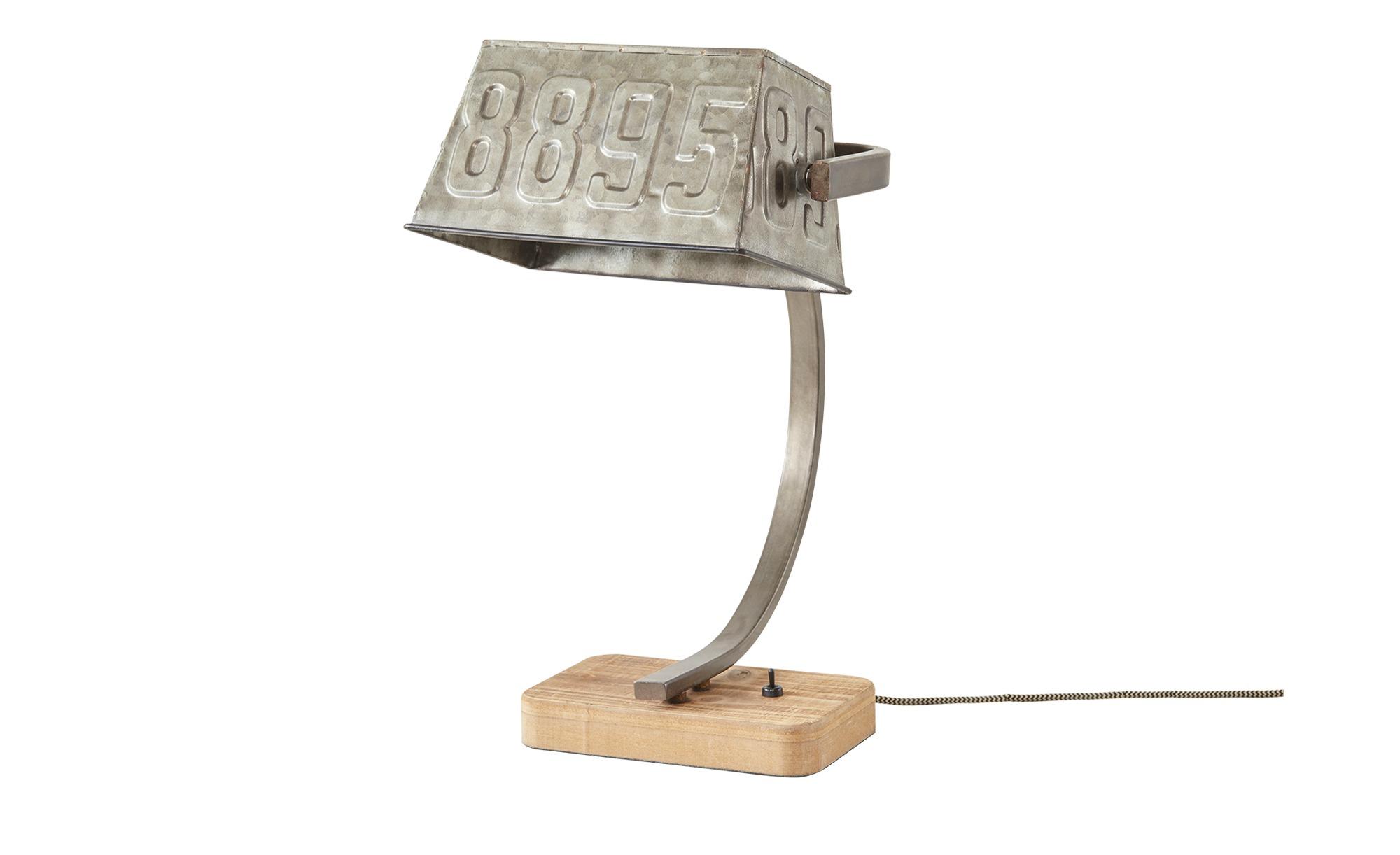 Tischleuchte, 1-flammig, Metallschirm ¦ silber ¦ Maße (cm): H: 40 Lampen & Leuchten > Innenleuchten > Tischlampen - Höffner