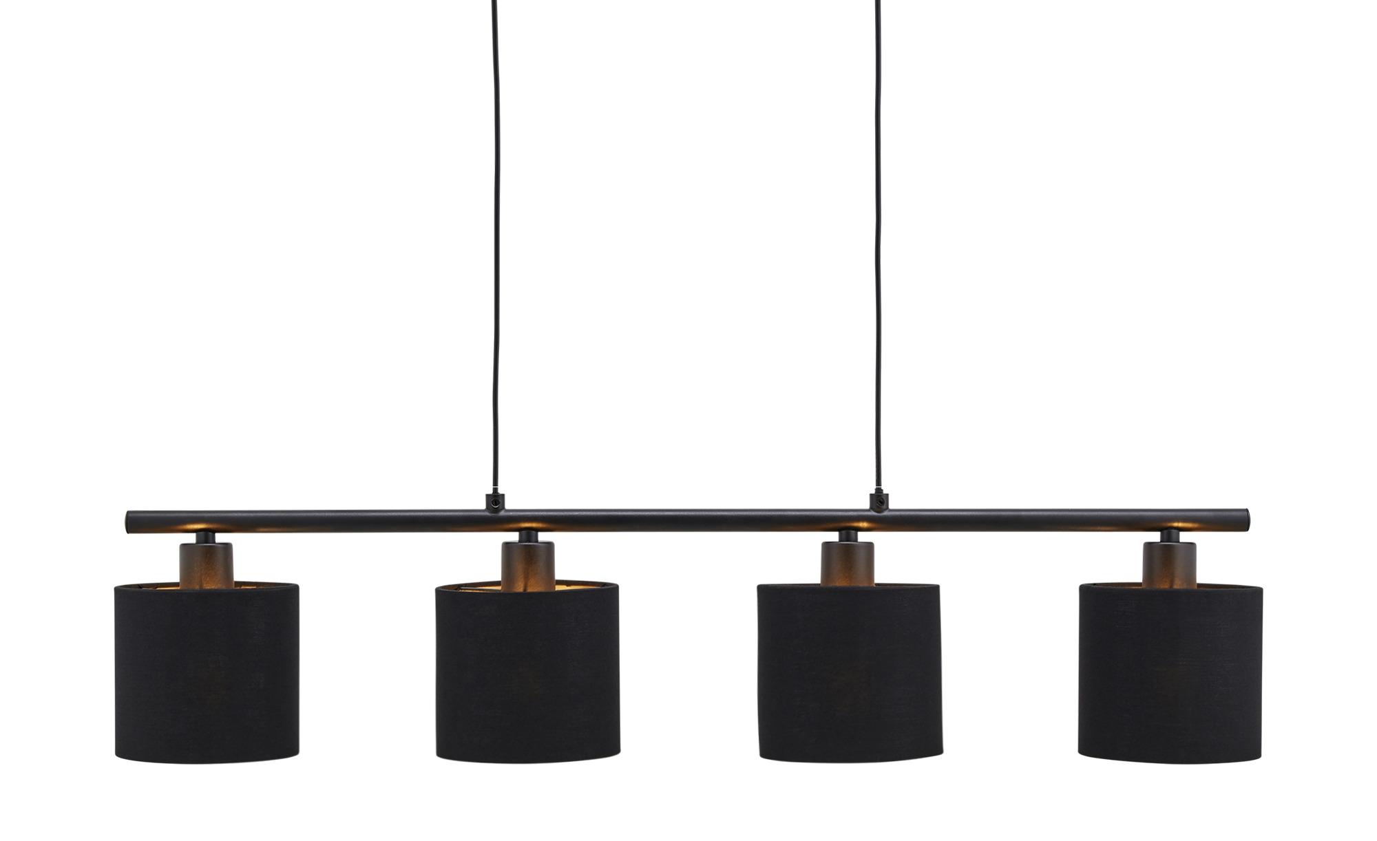 Pendelleuchte, 4-flammig ¦ schwarz ¦ Maße (cm): B: 76 Lampen & Leuchten > Innenleuchten > Pendelleuchten - Höffner