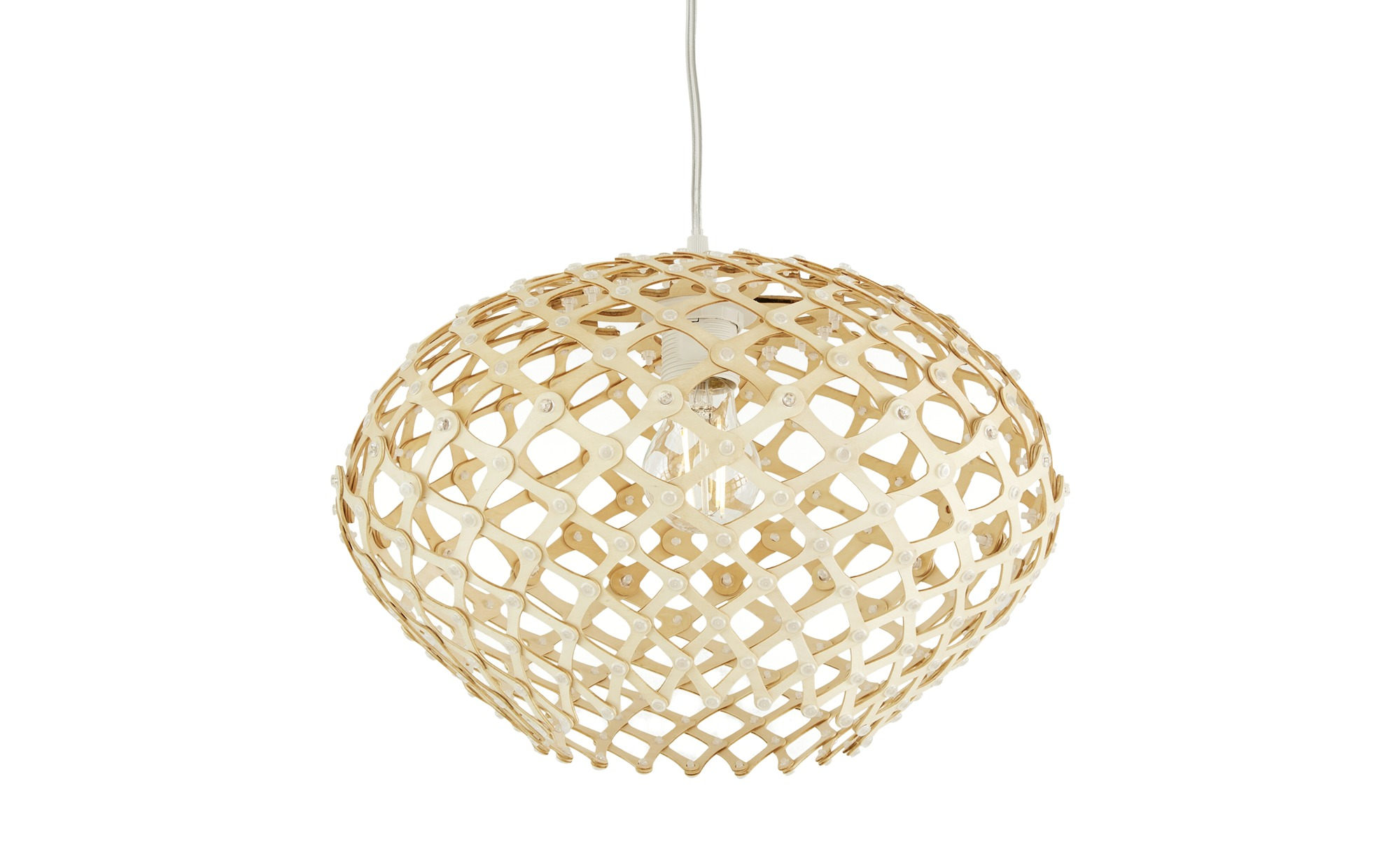 Holz-Pendelleuchte, 1-flammig ¦ braun ¦ Maße (cm): H: 22 Ø: [35.0] Lampen & Leuchten > Innenleuchten > Pendelleuchten - Höffner