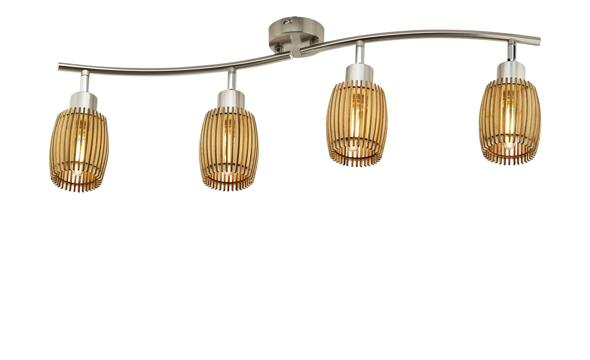 Deckenstrahler, 4-flammig ¦ holzfarben ¦ Maße (cm): B: 70 Lampen & Leuchten > Innenleuchten > Deckenleuchten - Höffner