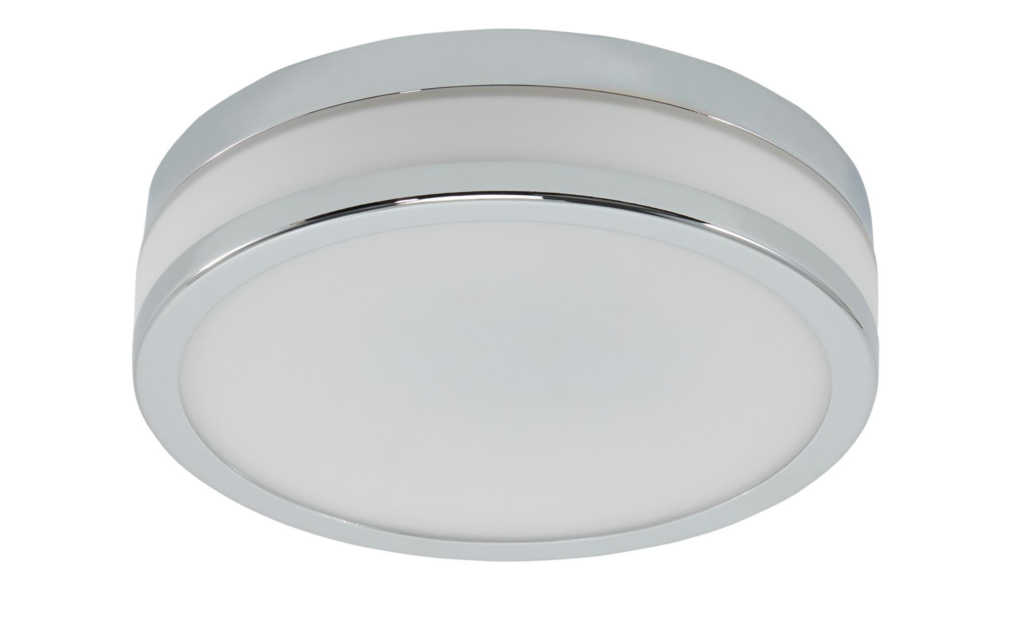 LED-Deckenleuchte, 1-flammig, chrom IP44 ¦ silber ¦ Maße (cm): H: 6,5 Ø: 22 Lampen & Leuchten > Innenleuchten > Deckenleuchten - Höffner