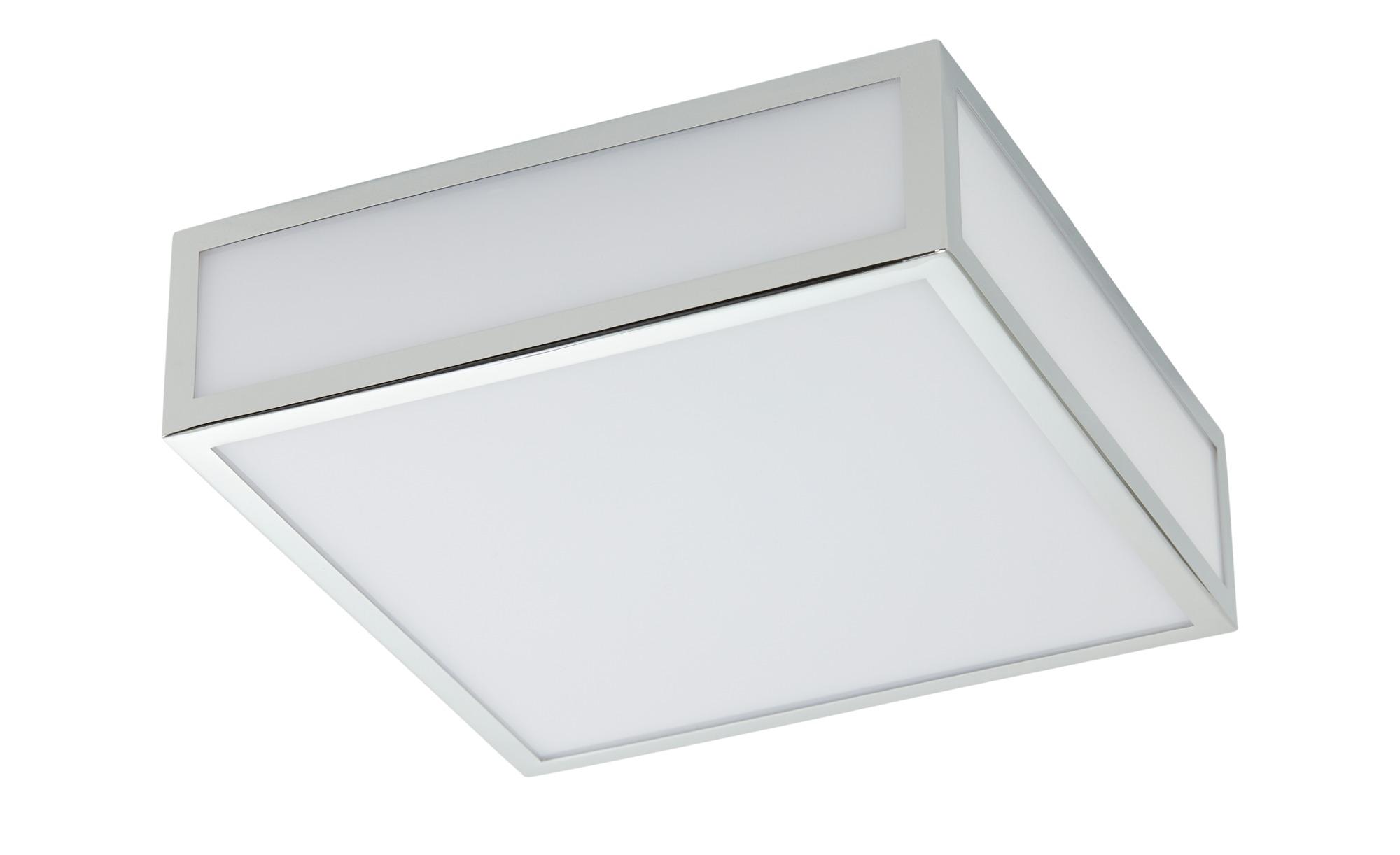 LED-Deckenleuchte, 1-flammig, chrom, eckig IP44 ¦ silber ¦ Maße (cm): B: 22 H: 7,5 Lampen & Leuchten > Innenleuchten > Deckenleuchten - Höffner