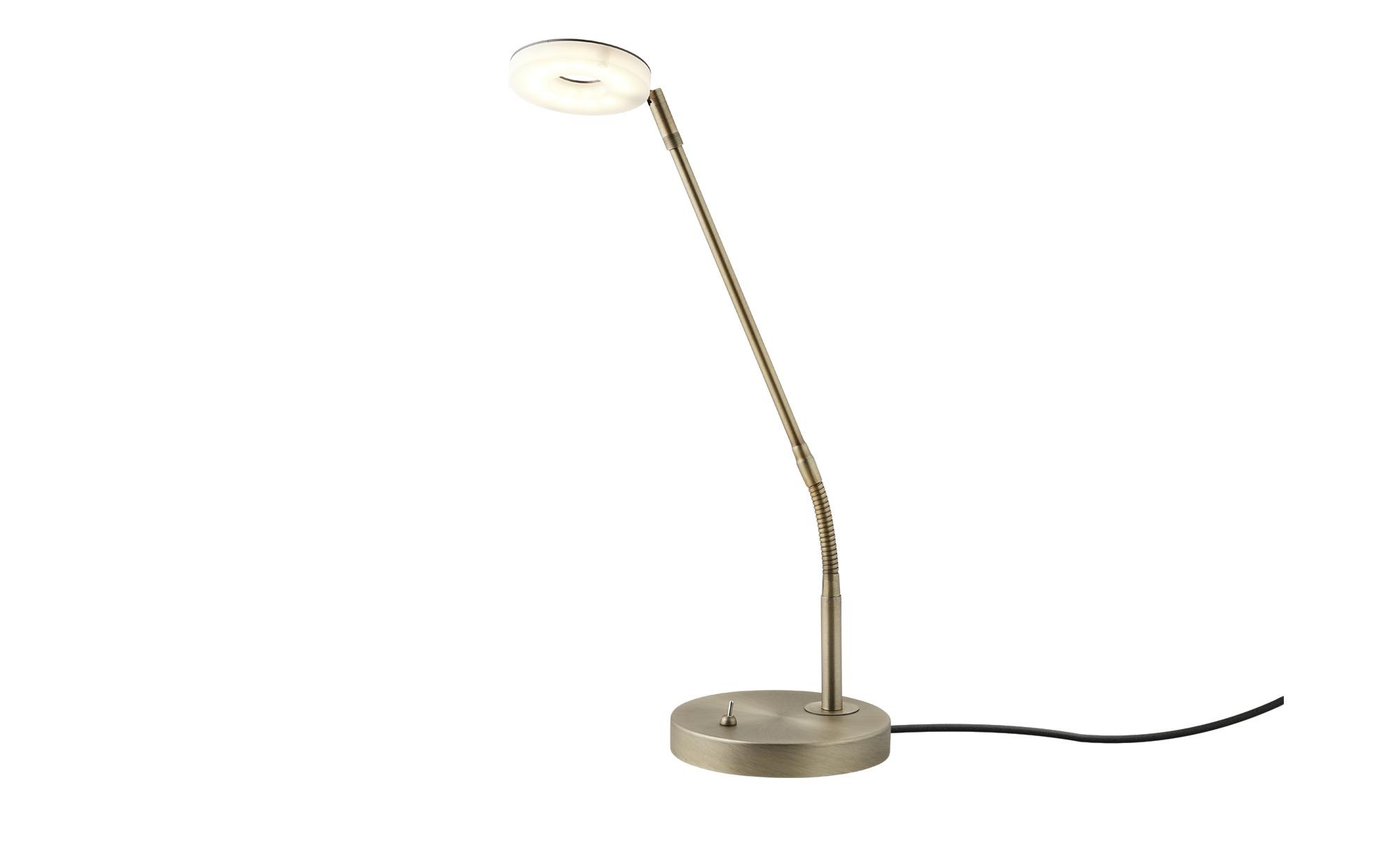 KHG LED-Tischleuchte, 1-flammig, Antik-Messing ¦ gold ¦ Maße (cm): H: 49 Ø: 15.8 Lampen & Leuchten > Innenleuchten > Tischlampen - Höffner