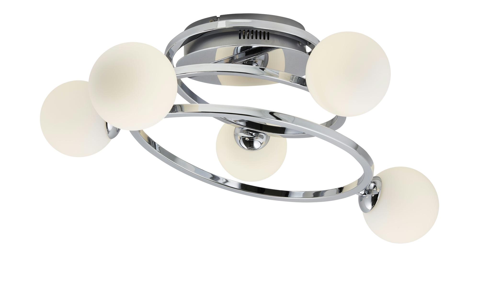 KHG LED-Deckenleuchte, 5-flammig ¦ silber ¦ Maße (cm): B: 47 H: 22 Lampen & Leuchten > Innenleuchten > Deckenleuchten - Höffner