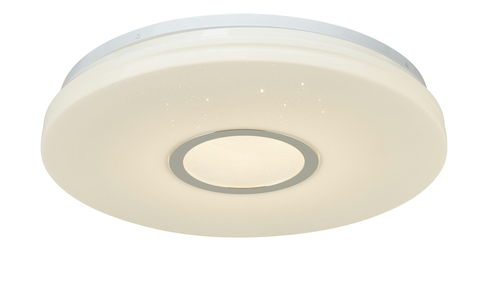 KHG LED-Deckenleuchte mit Sternenhimmeleffekt ¦ weiß ¦ Maße (cm): H: 7,5 Ø: 41.5 Lampen & Leuchten > Innenleuchten > Deckenleuchten - Höffner