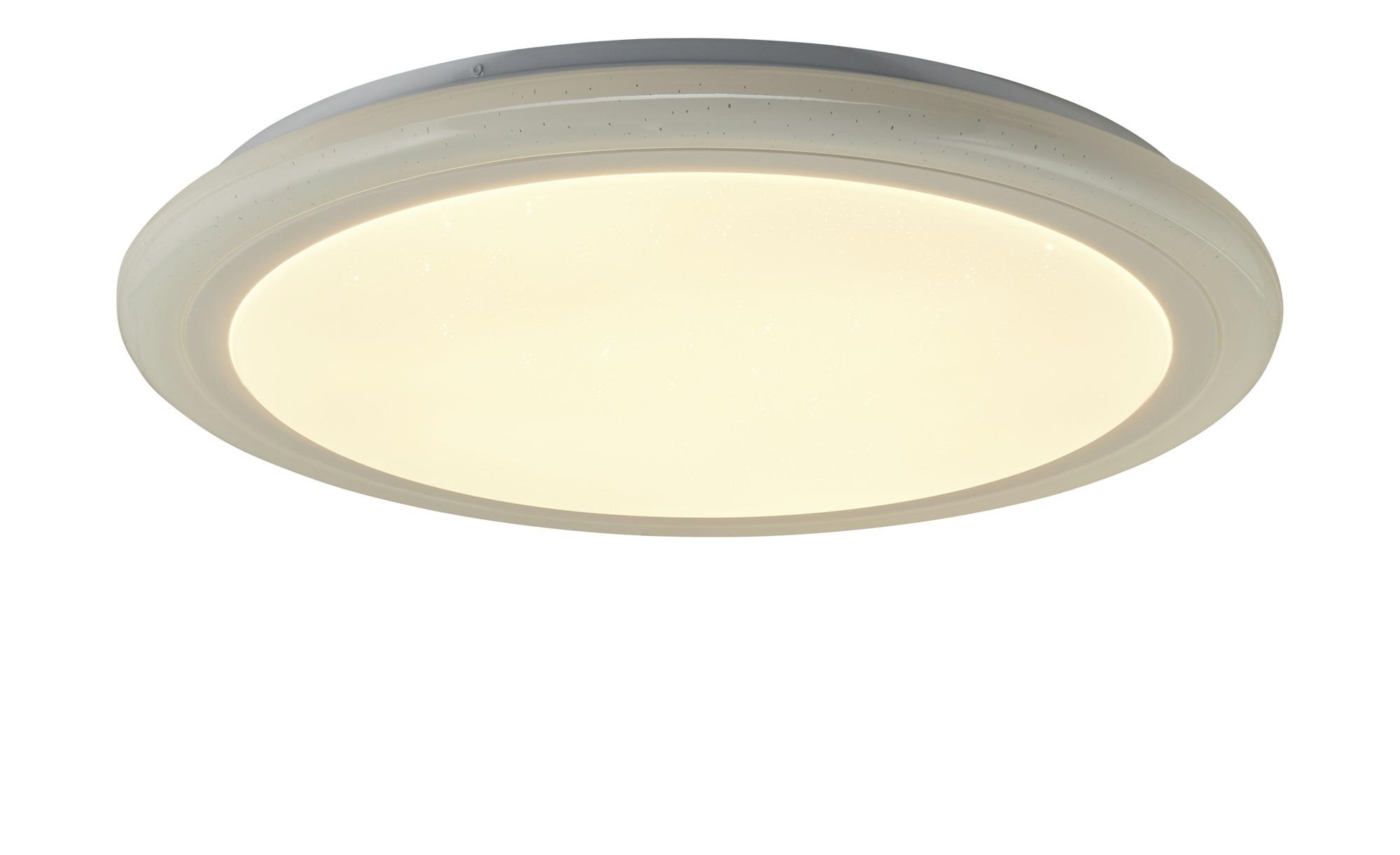 KHG LED-Deckenleuchte mit Fernbedienung ¦ weiß ¦ Maße (cm): H: 7 Ø: 60 Lampen & Leuchten > Innenleuchten > Deckenleuchten - Höffner