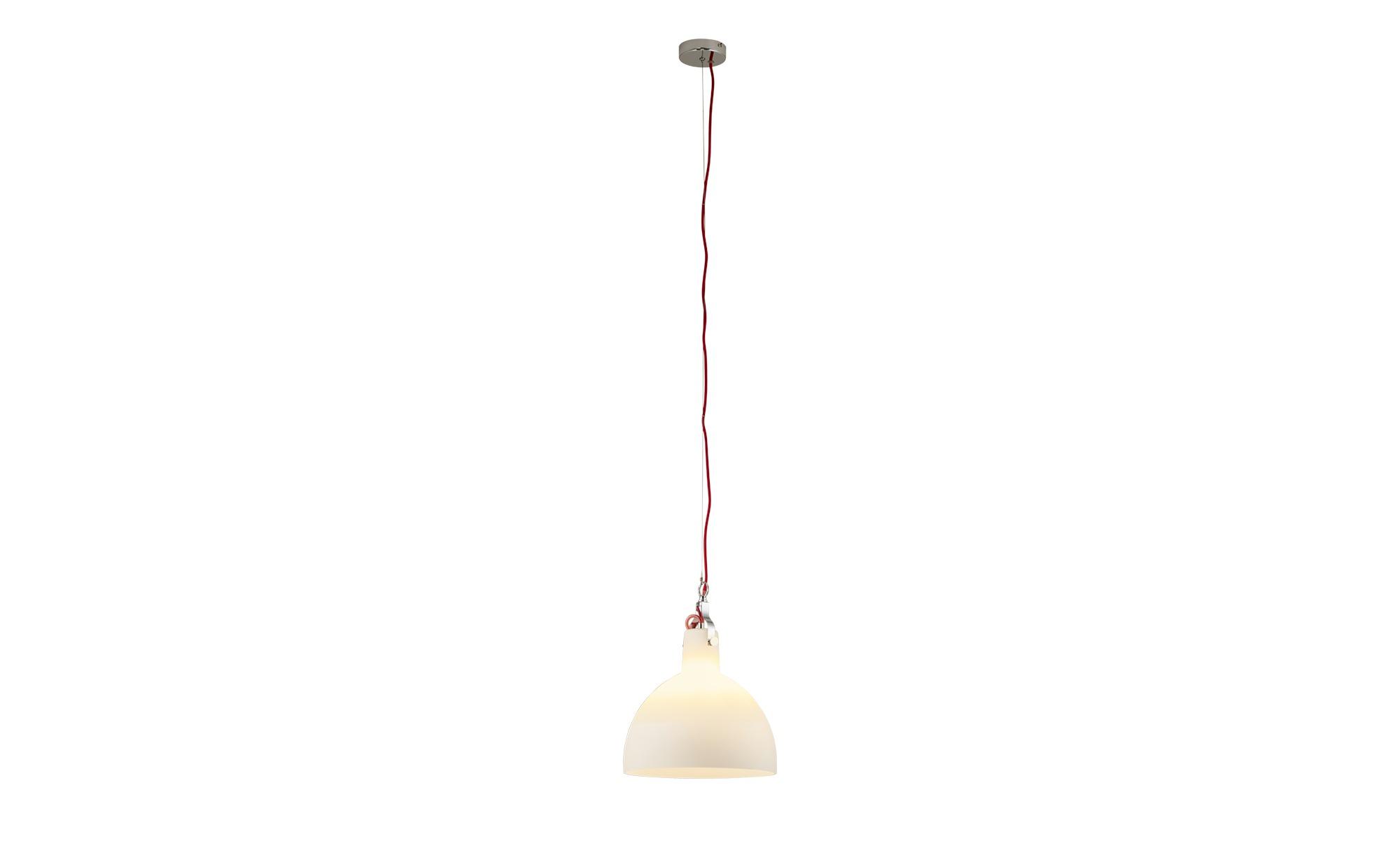 KHG Pendelleuchte, 1-flammig, Glas Weiß ¦ weiß ¦ Maße (cm): B: 30 H: 150 Lampen & Leuchten > Innenleuchten > Pendelleuchten - Höffner