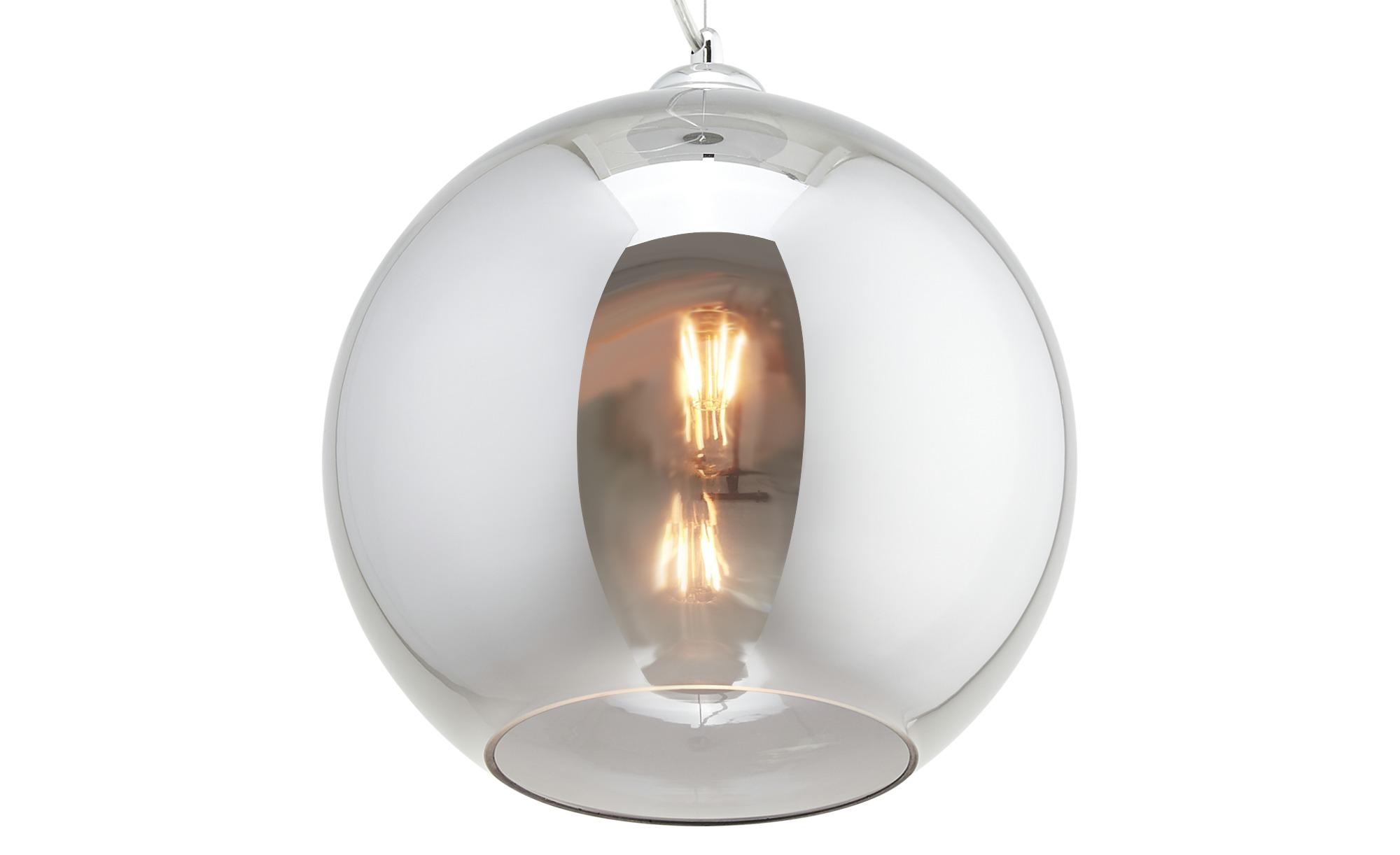 KHG Pendelleuchte, 1-flammig, Rauchglas ¦ silber ¦ Maße (cm): H: 150 Ø: [29.0] Lampen & Leuchten > Innenleuchten > Pendelleuchten - Höffner