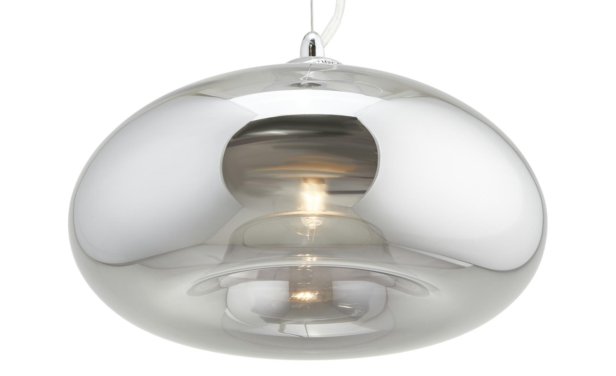 KHG Pendelleuchte, 1-flammig ¦ silber ¦ Maße (cm): H: 150 Ø: 27 Lampen & Leuchten > Innenleuchten > Pendelleuchten - Höffner