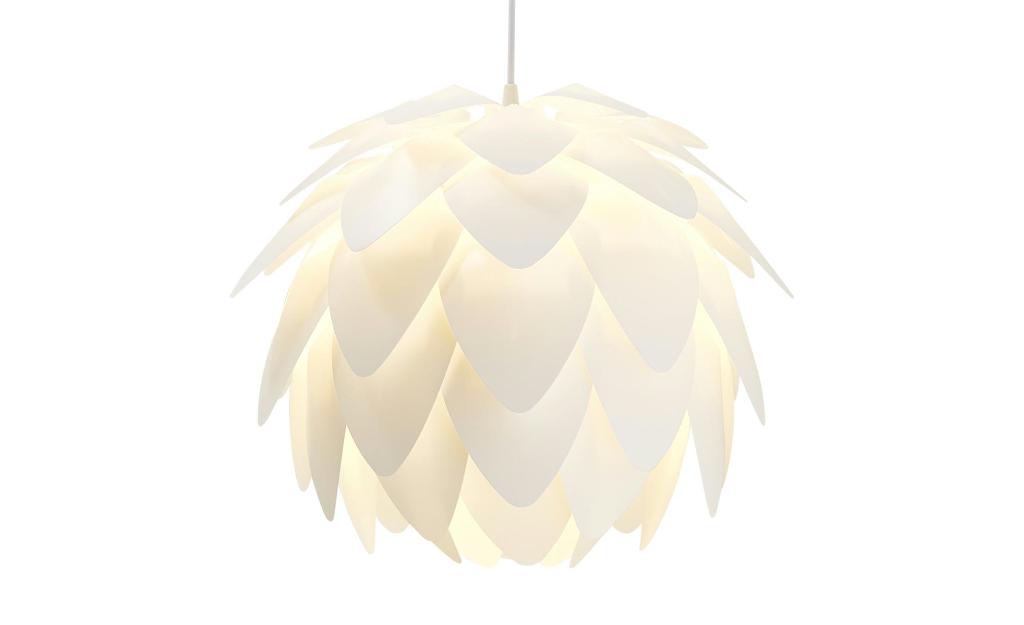for friends Pendelleuchte, 1-flammig, Weiß ¦ weiß ¦ Maße (cm): H: 150 Ø: 40 Lampen & Leuchten > Innenleuchten > Pendelleuchten - Höffner