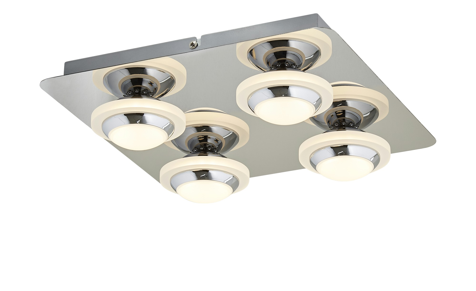 KHG LED-Deckenleuchte, 4-flammig, Chrom ¦ silber ¦ Maße (cm): B: 30 H: 7,5 Lampen & Leuchten > Innenleuchten > Deckenleuchten - Höffner