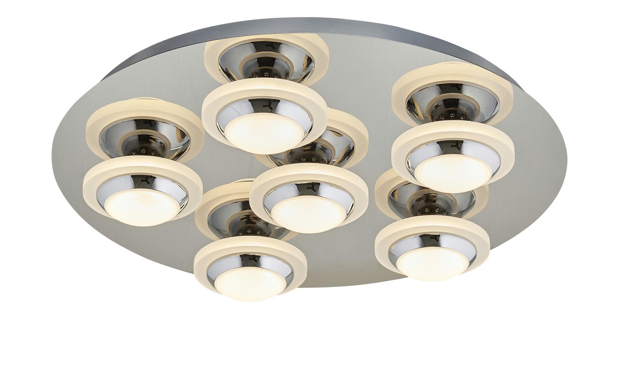 KHG LED-Deckenleuchte, 6-flammig, Chrom ¦ silber ¦ Maße (cm): B: 39 H: 7,5 Lampen & Leuchten > Innenleuchten > Deckenleuchten - Höffner