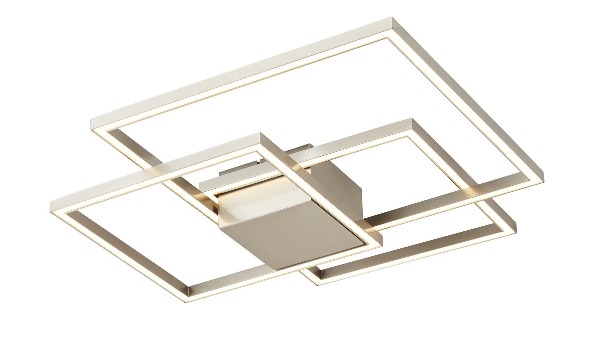 ML LED-Deckenleuchte, 3-flammig, Nickel matt ¦ silber ¦ Maße (cm): B: 56 H: 8,5 Lampen & Leuchten > Innenleuchten > Deckenleuchten - Höffner