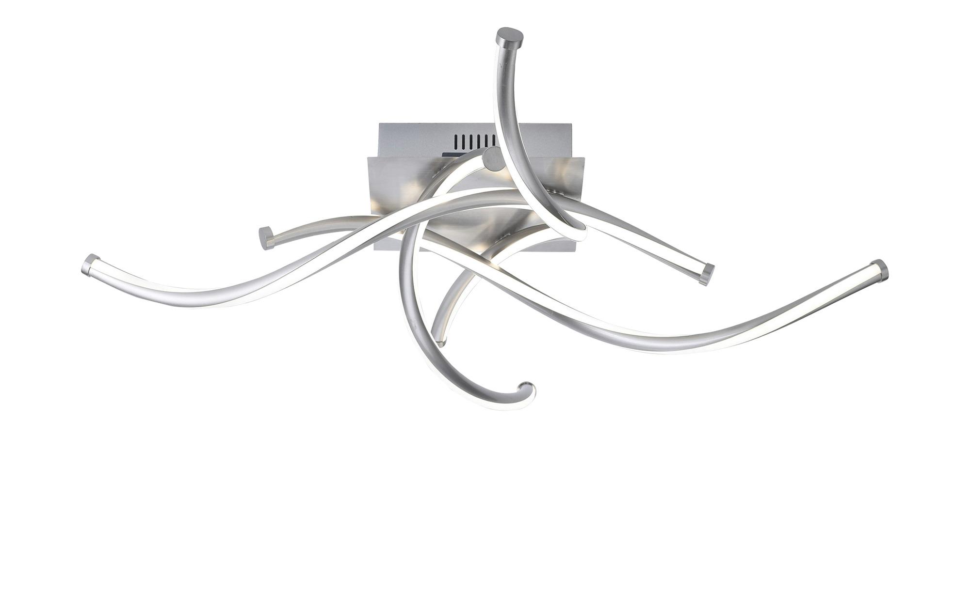 Q-Smart Home Lights Deckenleuchte, 4-flammig, Nickel matt ¦ silber ¦ Maße (cm): B: 74,5 H: 16,8 Lampen & Leuchten > Innenleuchten > Deckenleuchten - Höffner