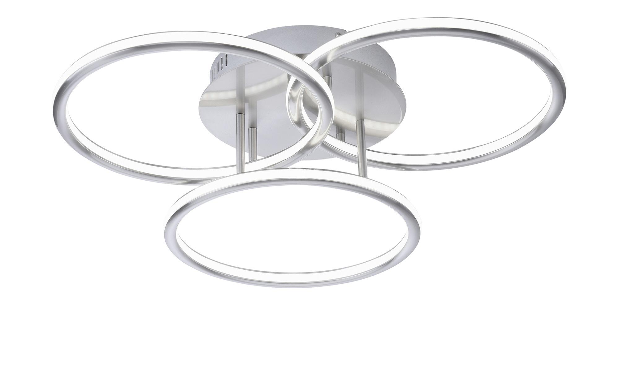 Q-Smart Home Lights Deckenleuchte, 3-flammig, Nickel matt ¦ silber ¦ Maße (cm): H: 13 Ø: 56 Lampen & Leuchten > Innenleuchten > Deckenleuchten - Höffner