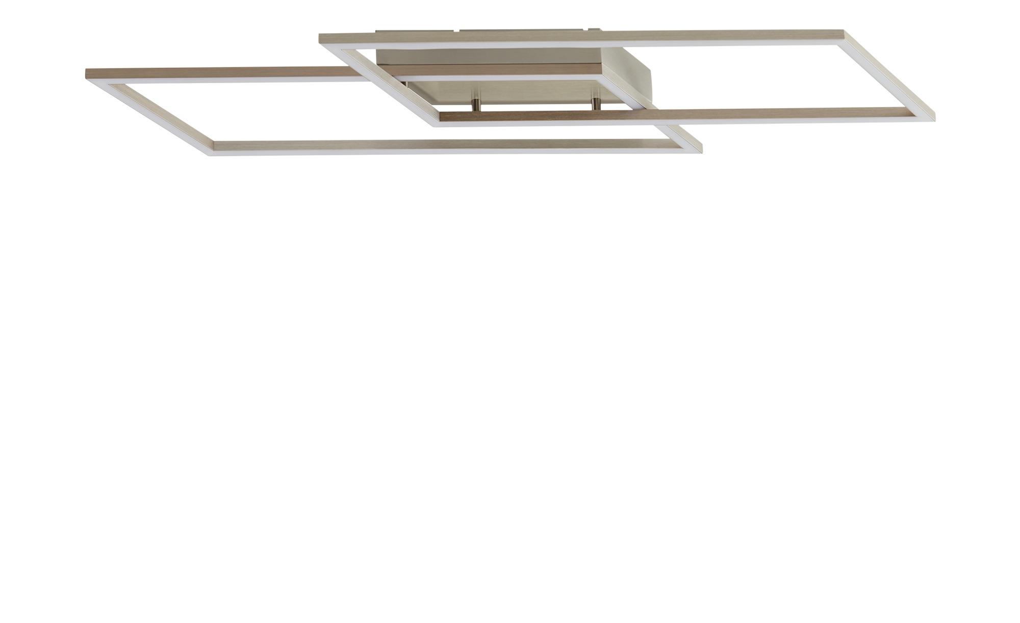 Paul Neuhaus LED-Deckenleuchte, 2-flammig, Nickel-matt ¦ silber ¦ Maße (cm): B: 24,2 H: 7 Lampen & Leuchten > Innenleuchten > Deckenleuchten - Höffner
