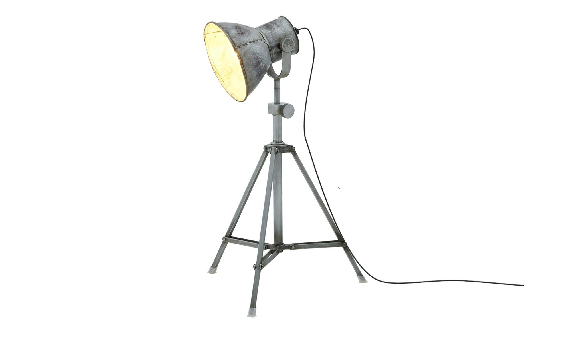 Paul Neuhaus Stehleuchte, 1-flammig, Industrie-Stil ¦ grau ¦ Maße (cm): H: 85 Ø: 30 Lampen & Leuchten > Innenleuchten > Stehlampen - Höffner