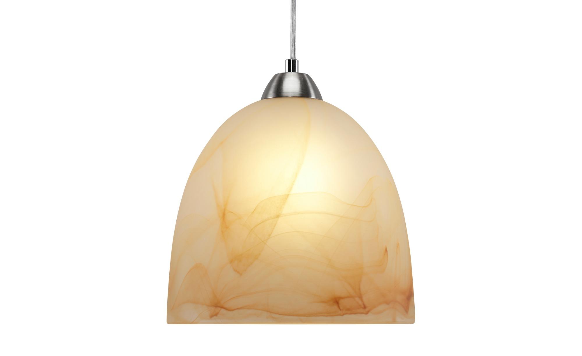 Pendelleuchte, 1-flammig, Alabasterglas braun ¦ braun ¦ Maße (cm): H: 100 Ø: 24 Lampen & Leuchten > Innenleuchten > Pendelleuchten - Höffner