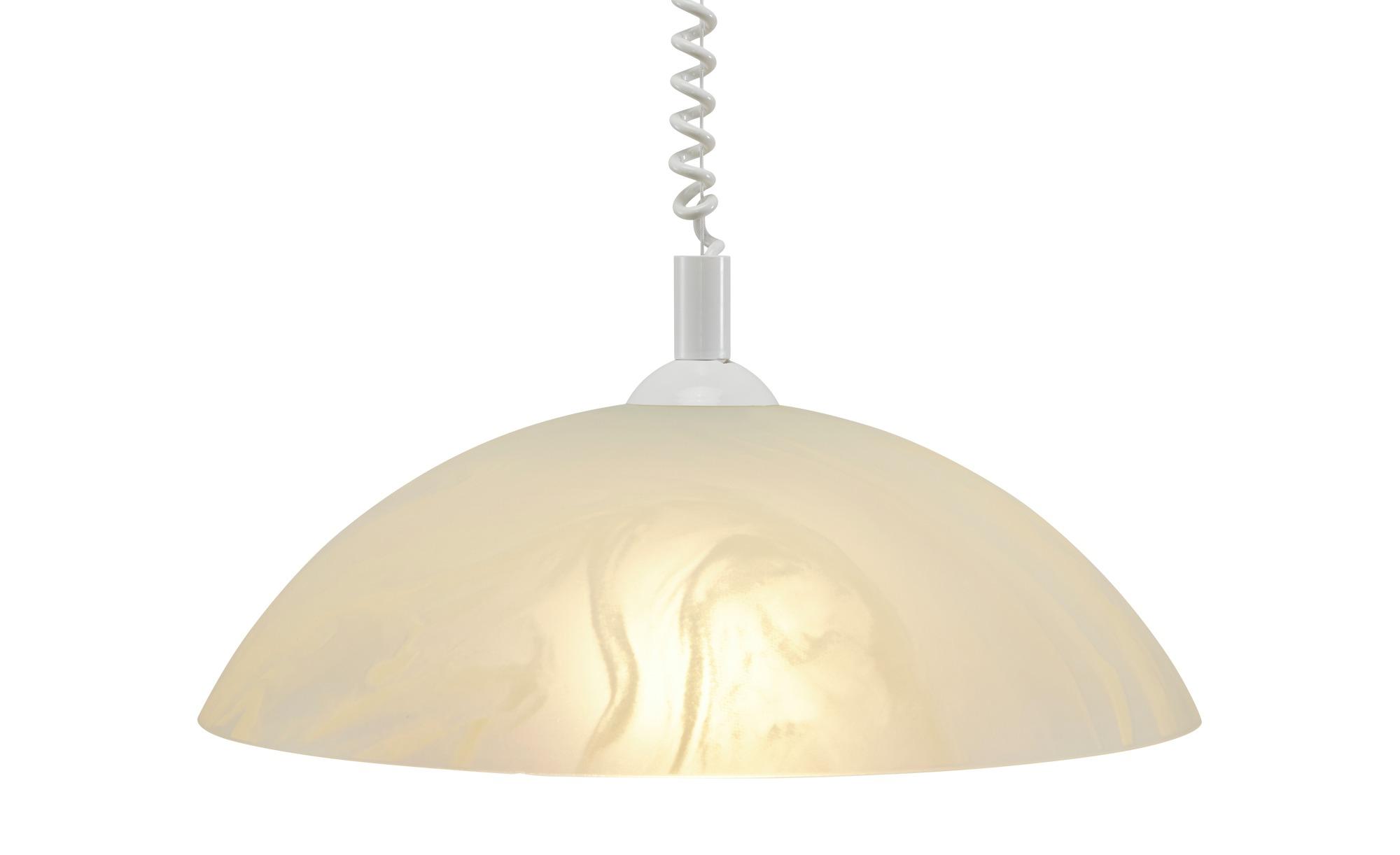 Pendelleuchte, 1-flammig, Glas Alabaster braun ¦ weiß ¦ Maße (cm): H: 100 Ø: 43 Lampen & Leuchten > Innenleuchten > Pendelleuchten - Höffner