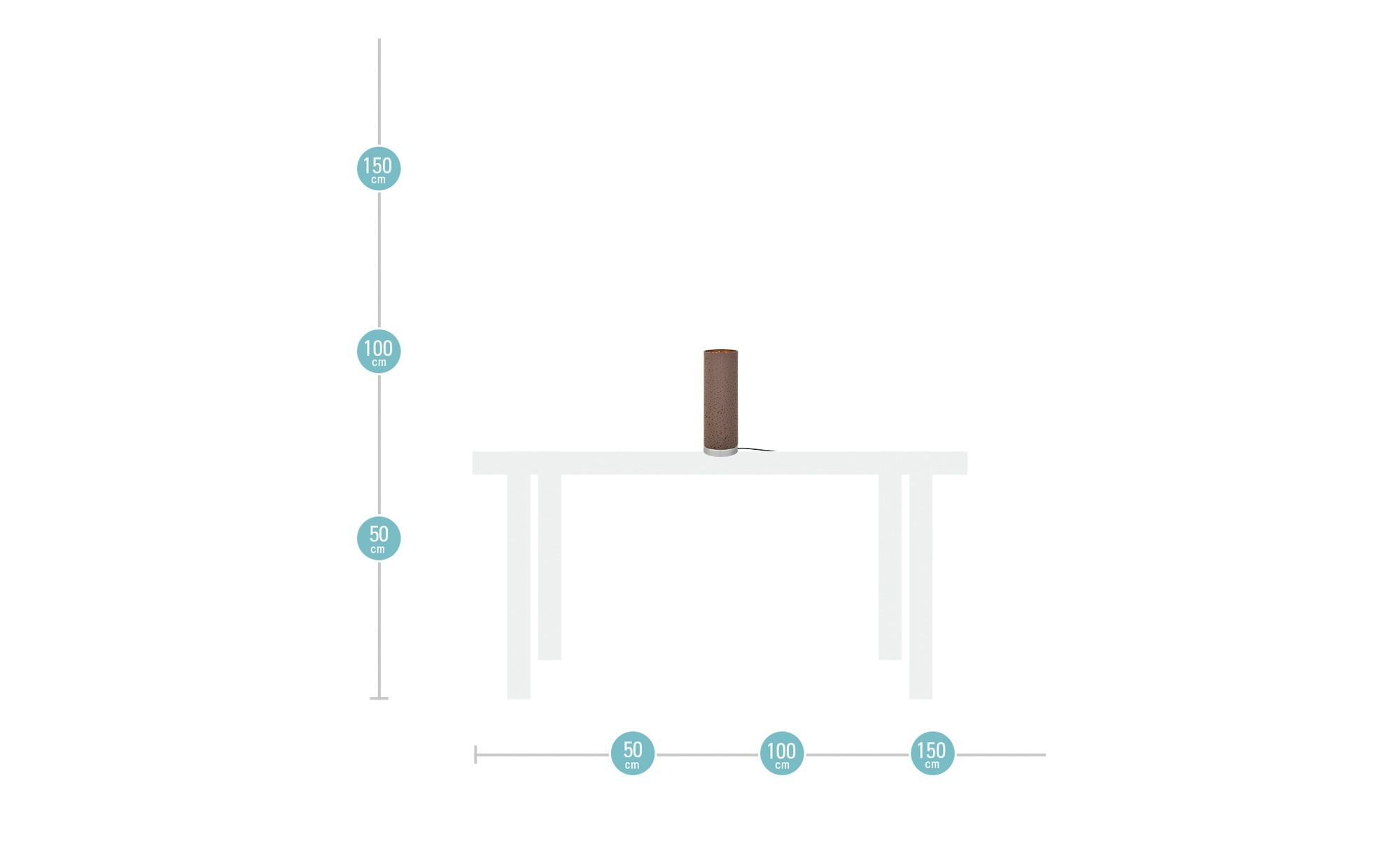 Fischer-Honsel Tischleuchte, 1-flammig ¦ braun ¦ Maße (cm): H: 35 Ø: [12.0] Lampen & Leuchten > Innenleuchten > Tischlampen - Höffner